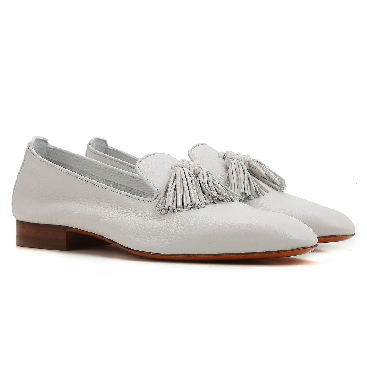 0e0439ba6d7 Lyst - Santoni Shoes For Women in White