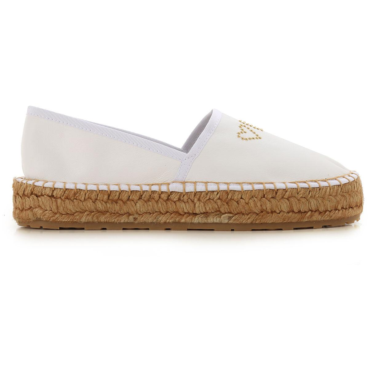 18c38ed38e90b Lyst - Moschino Slip On Sneakers For Women in White