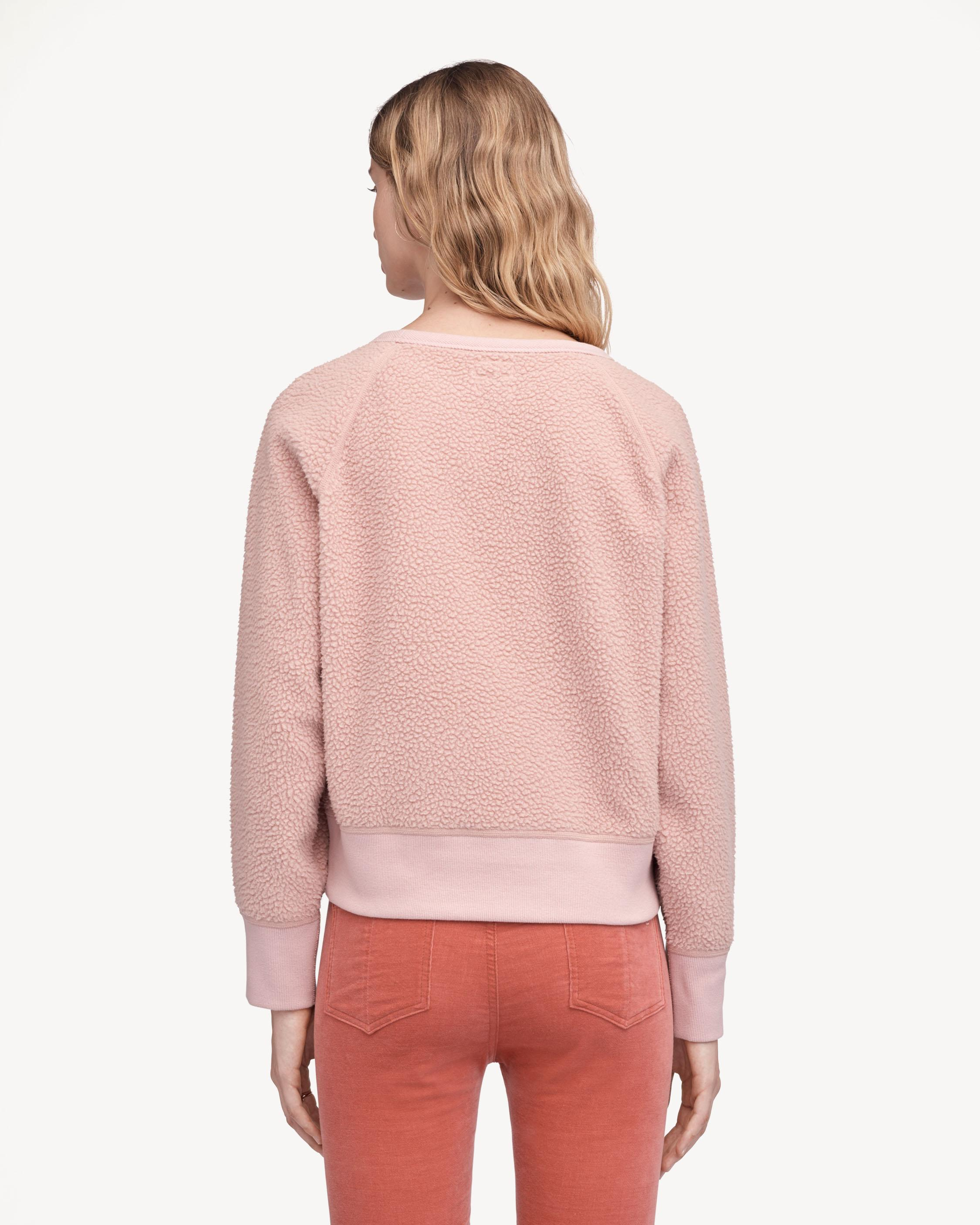 sherpa pink sweater