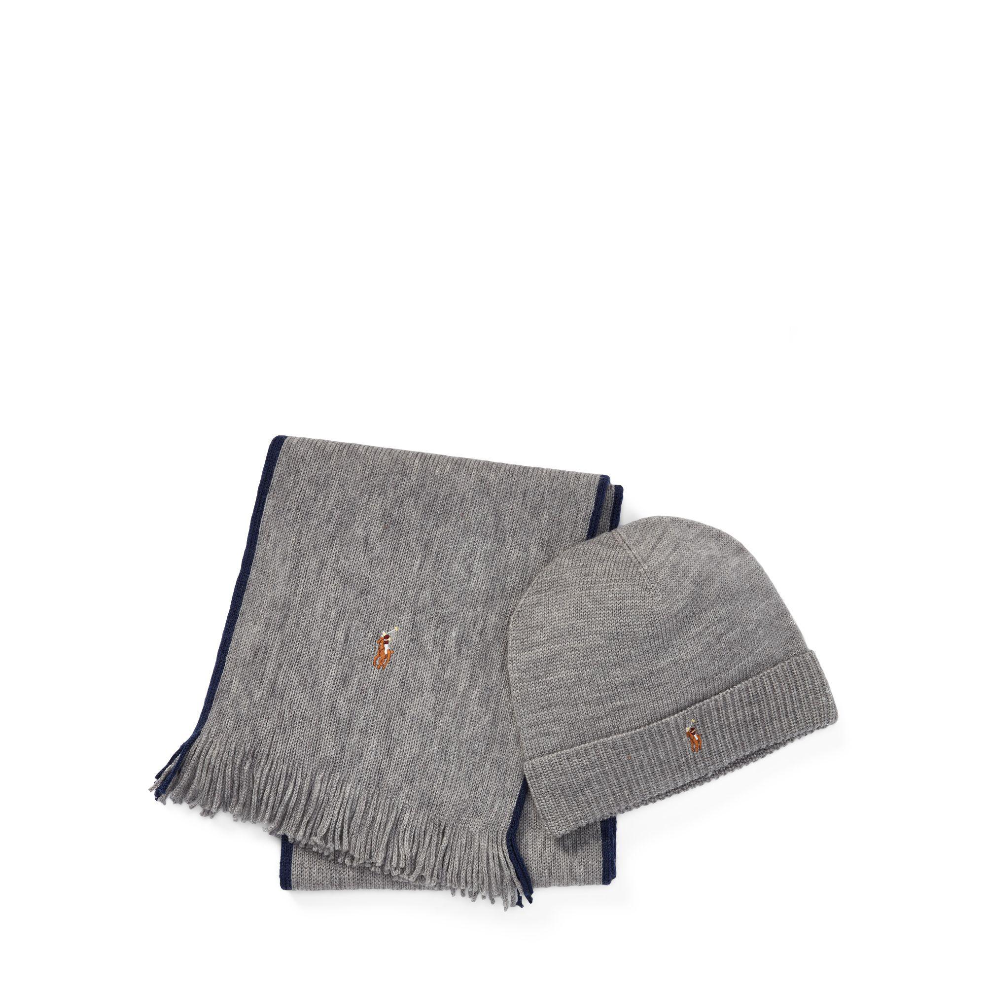 810ac055018 Polo Ralph Lauren - Gray Hat   Scarf Gift Set for Men - Lyst. View  fullscreen