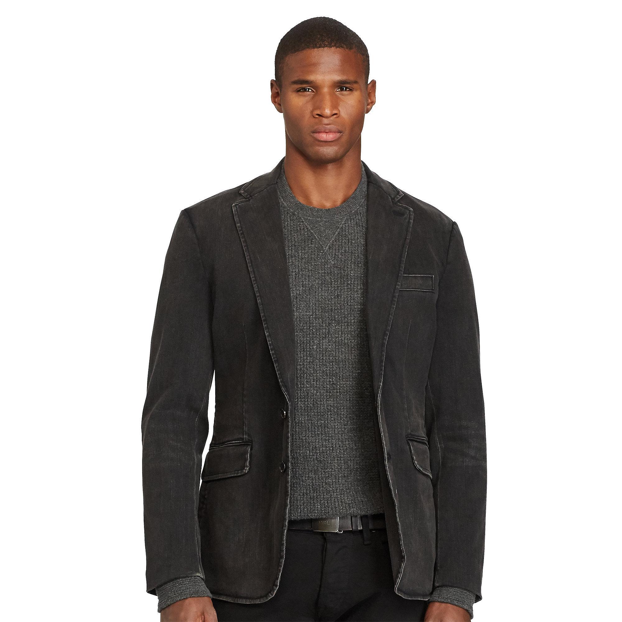 Lyst Polo Ralph Lauren Morgan Denim Sport Coat In Black
