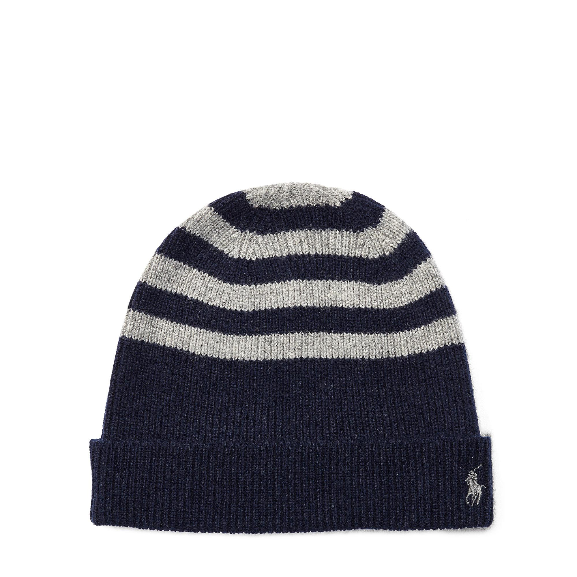 Lyst - Polo Ralph Lauren Rib-knit Wool-cashmere Hat in Blue for Men 93a76ed91877
