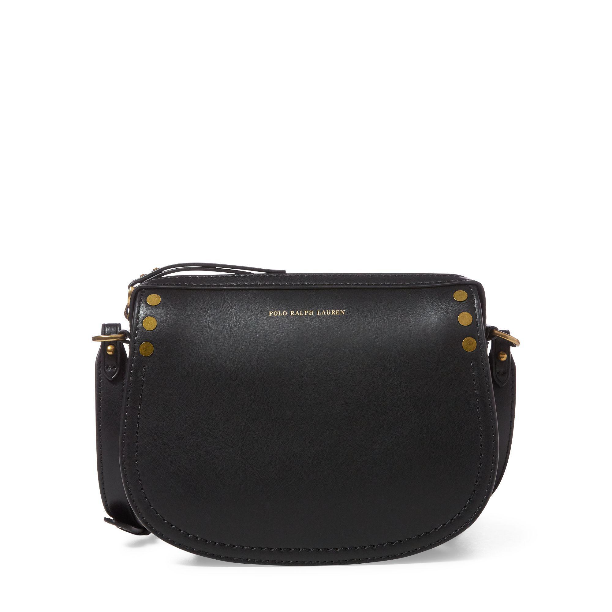 09ffc583b1 Lyst - Polo Ralph Lauren Calfskin Crossbody Bag in Black