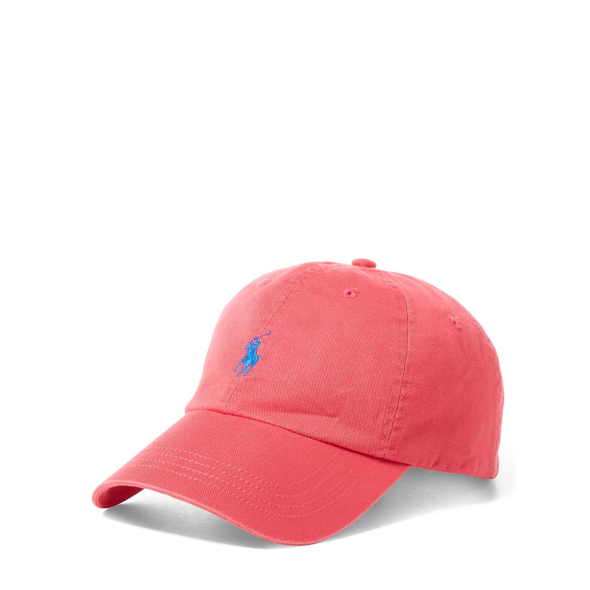 545aff2a42552 Lyst - Polo Ralph Lauren Cotton Chino Sports Cap in Pink for Men