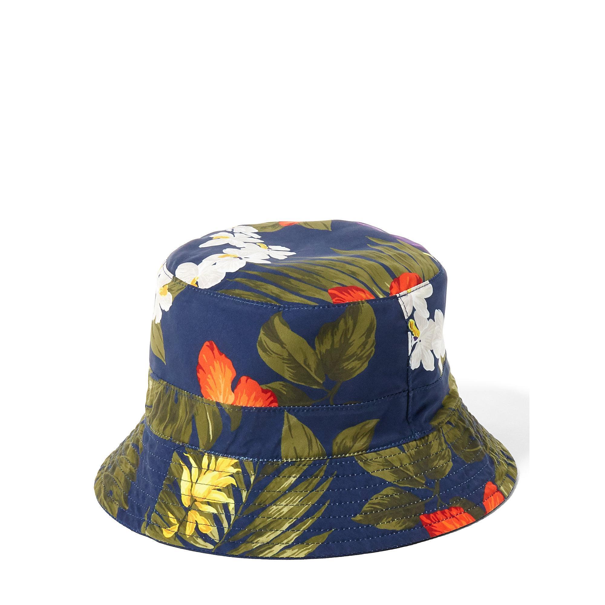 Lyst - Polo Ralph Lauren Reversible Twill Bucket Hat in Blue for Men d3b57948659