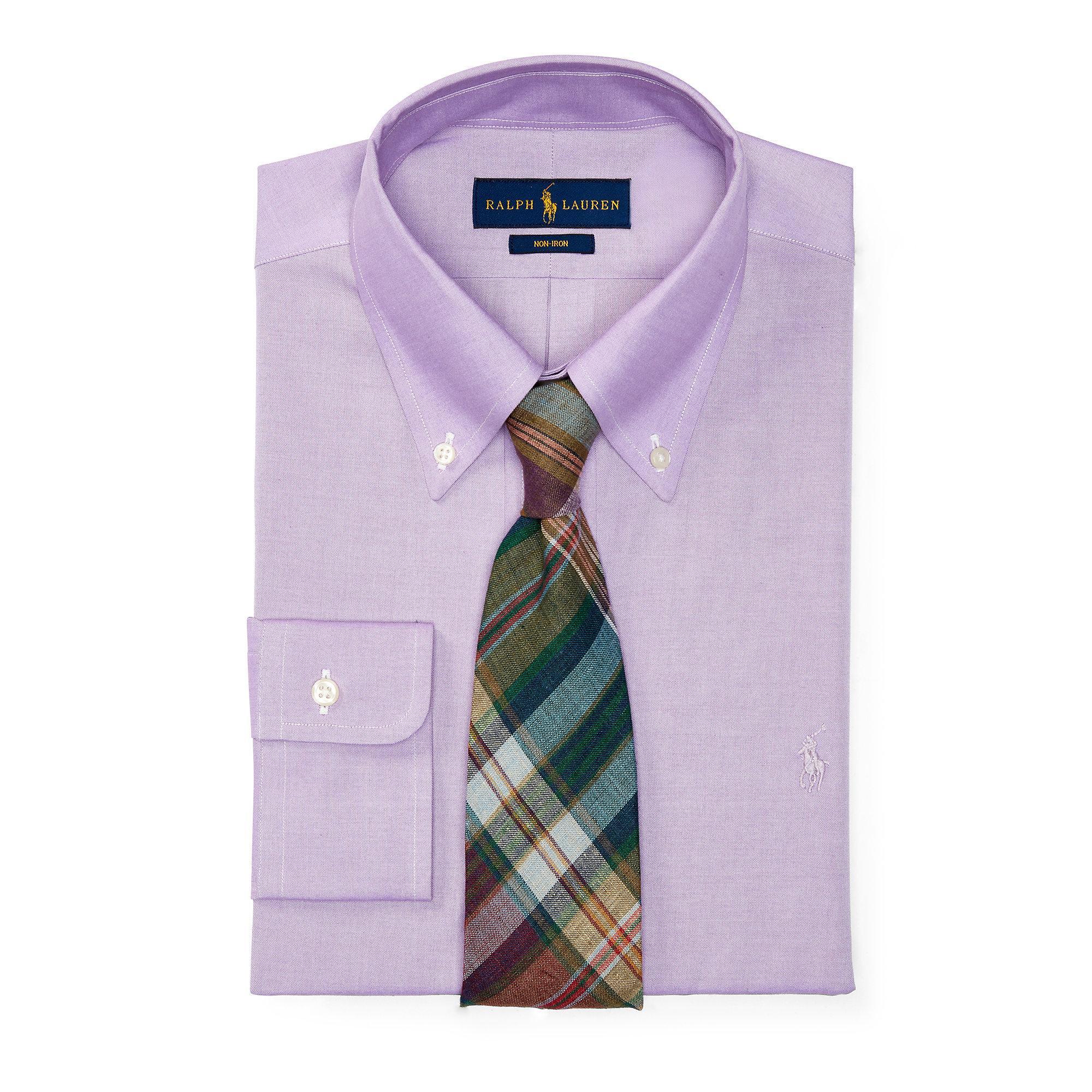 lyst polo ralph lauren no iron cotton dress shirt in