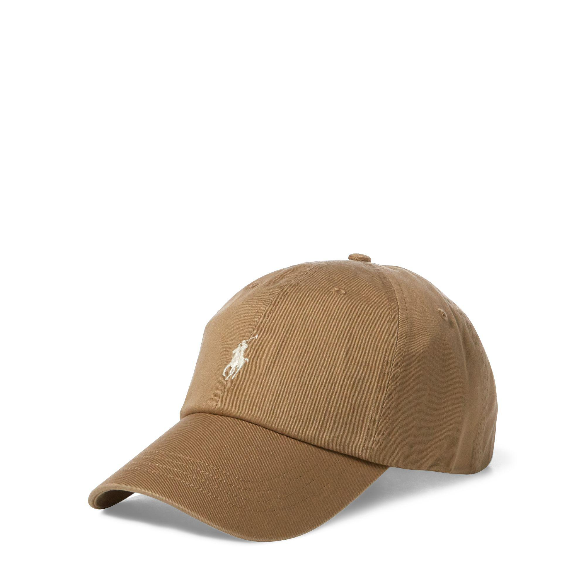 a24f43de ... canada lyst polo ralph lauren cotton chino baseball cap in brown for men  e6d2b 6e4fb