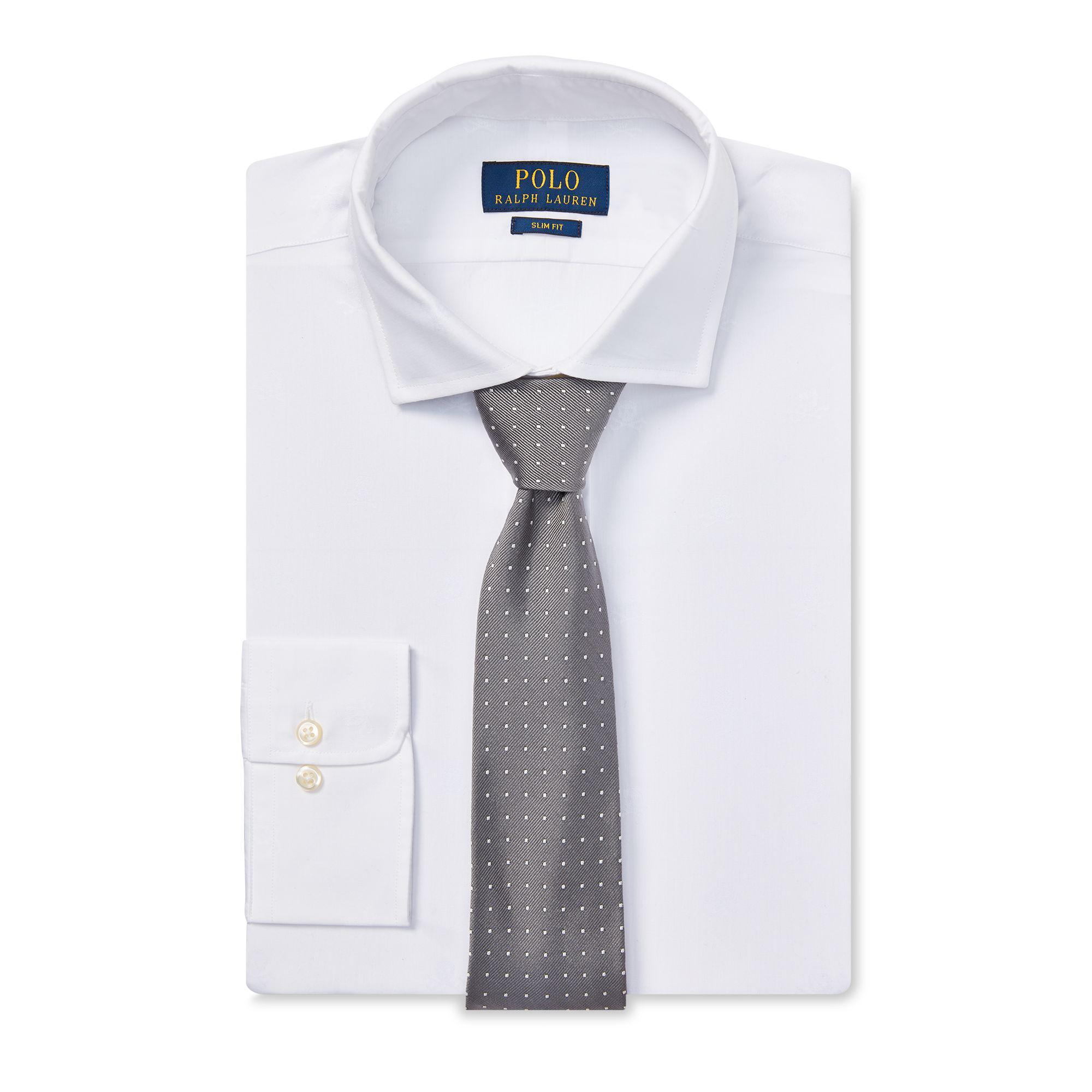 793e1b96e Polo Ralph Lauren Slim Skull & Crossbones Shirt in White for Men - Lyst