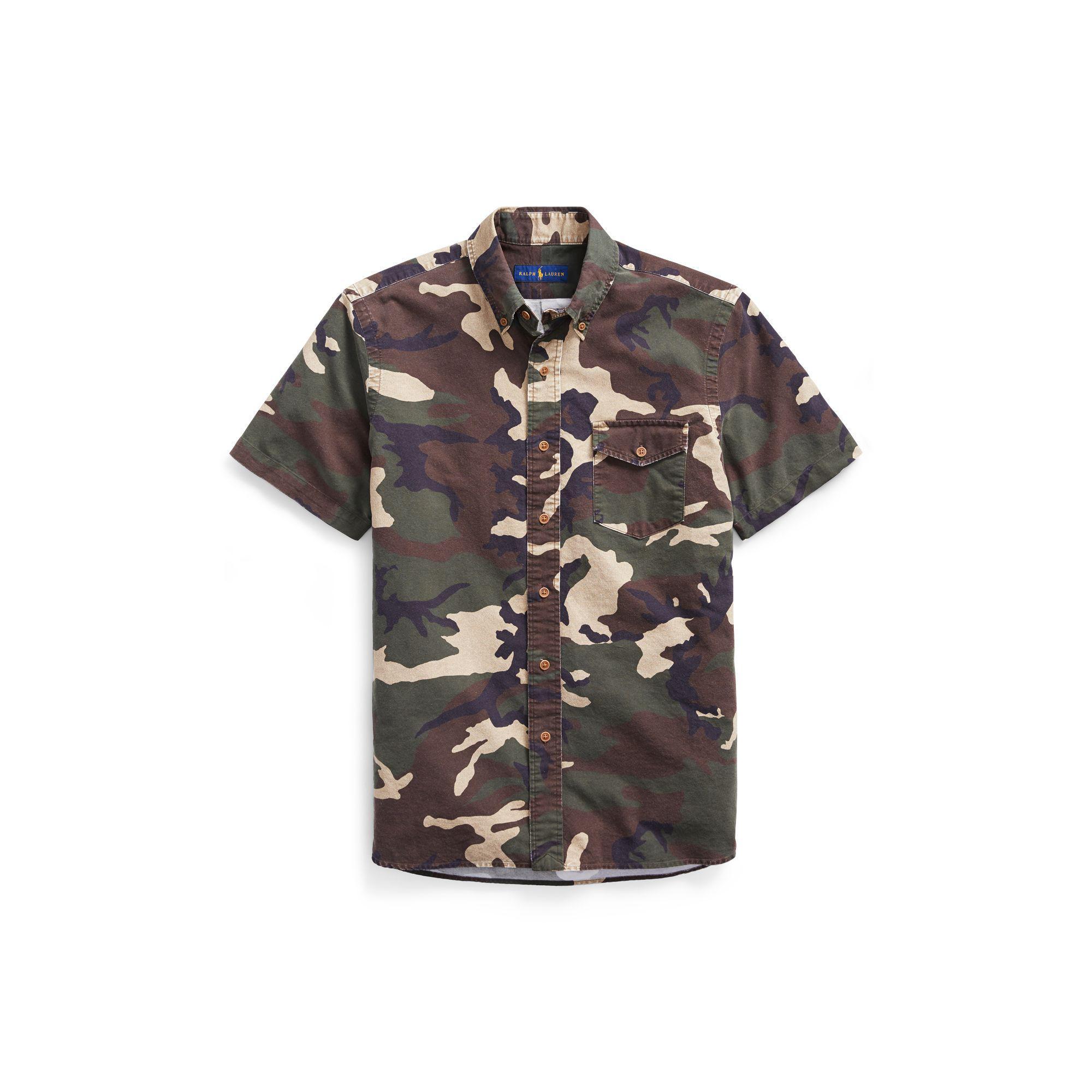 526e6318 Polo Ralph Lauren Classic Fit Camo Oxford Shirt for Men - Lyst