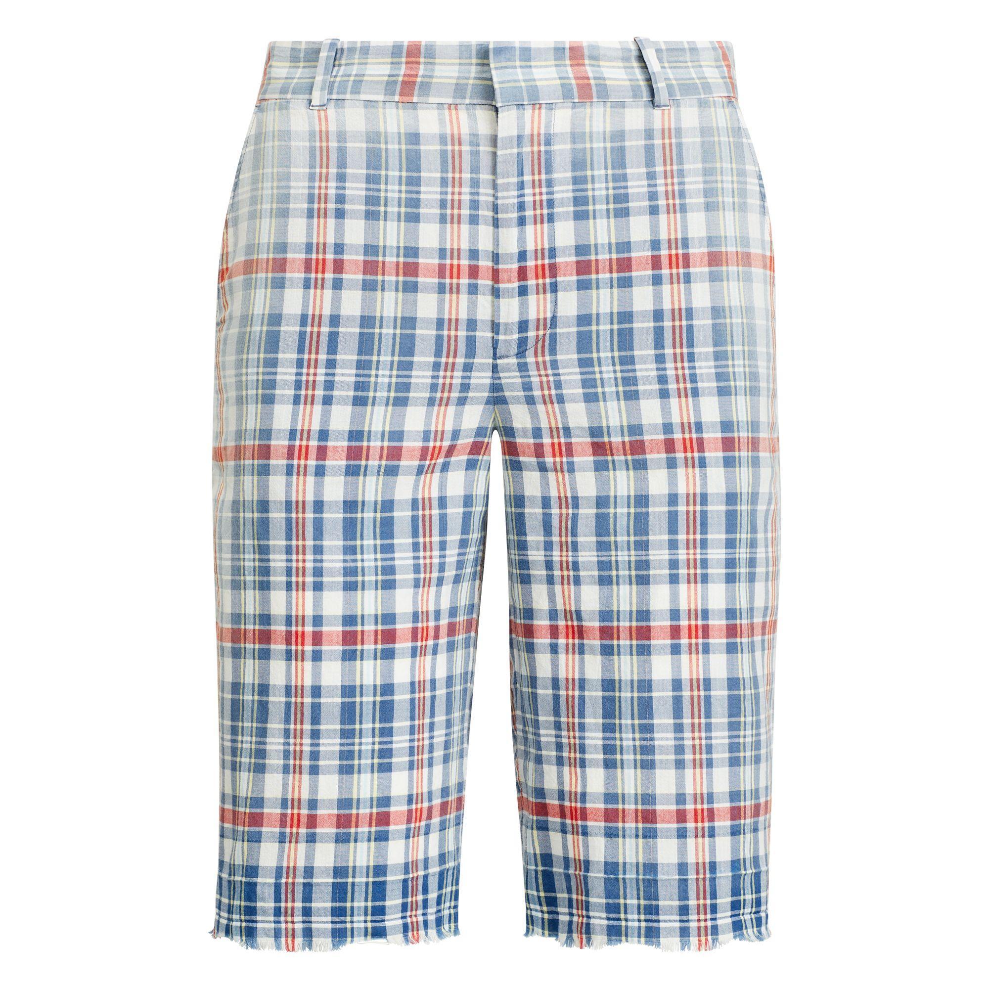 52799d782 Lyst - Polo Ralph Lauren Madras Bermuda Short in Blue