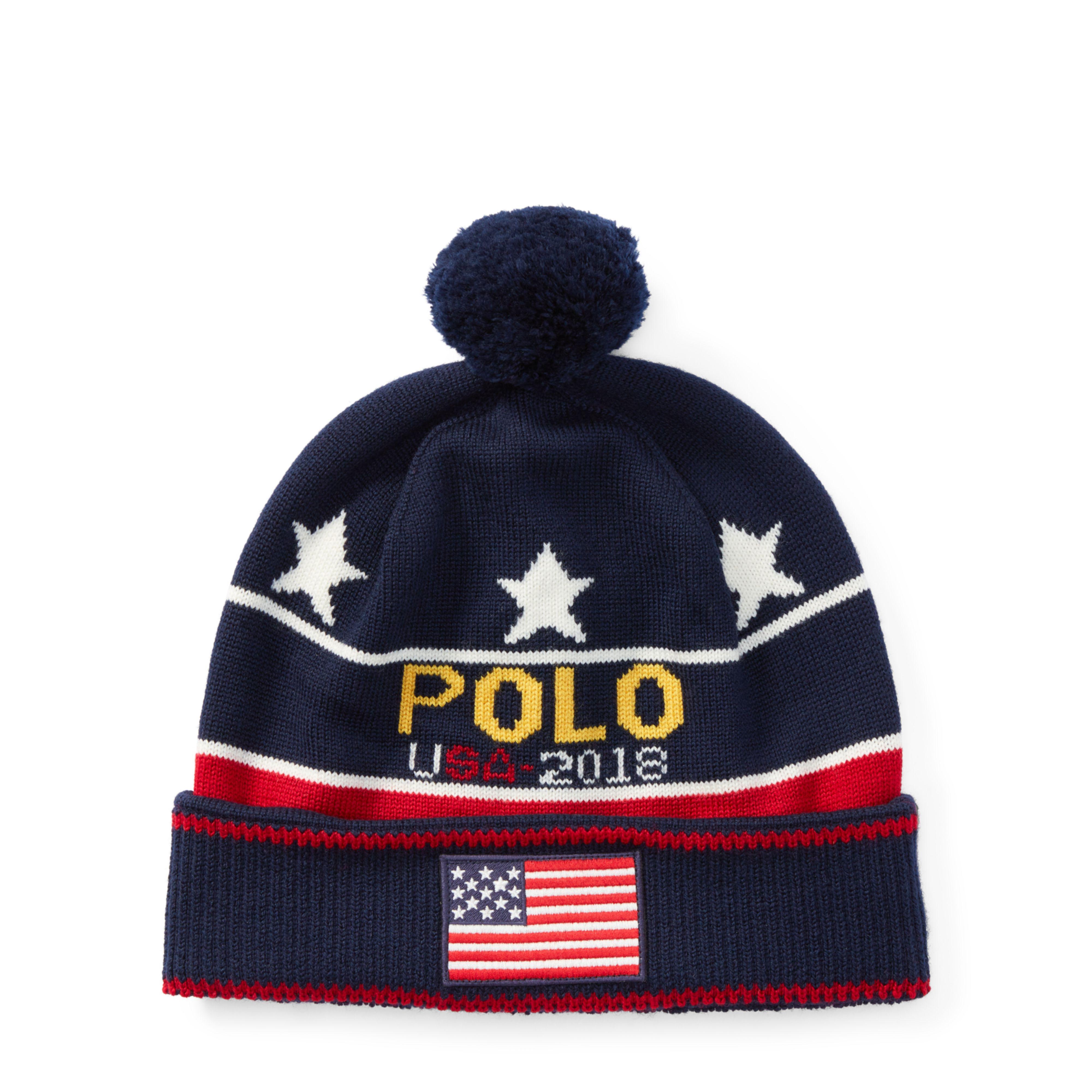 04983370a79 Lyst - Polo Ralph Lauren Polo Merino Wool Hat in Blue for Men