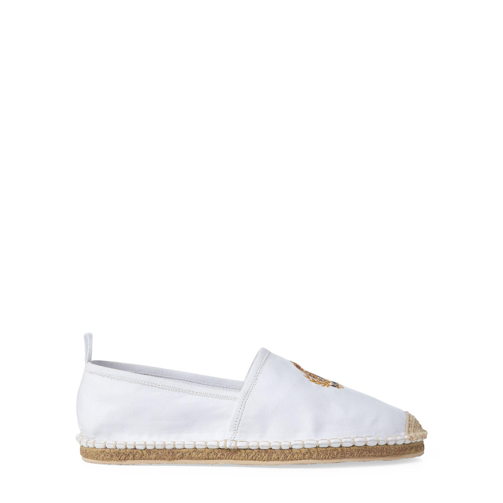 Lyst - Polo Ralph Lauren Barron Crested Espadrille in White for Men ... afb921fa4526