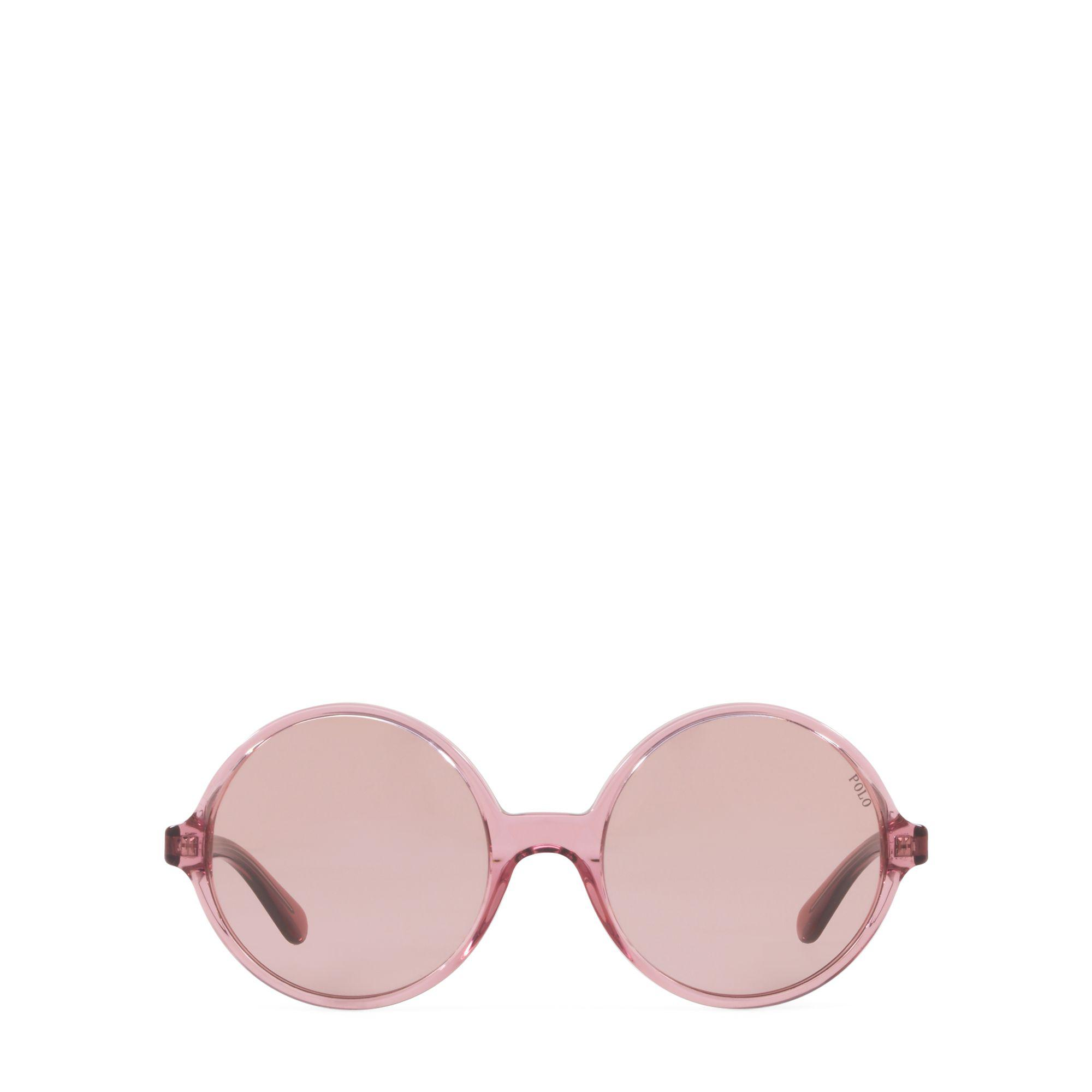 baf201d972b Lyst - Polo Ralph Lauren Oversize Round Sunglasses in Pink