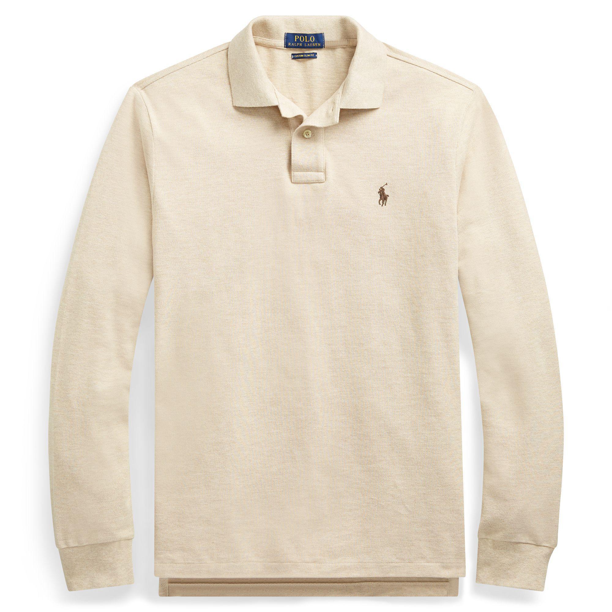 2ea9ee75f183 Polo Ralph Lauren Custom Slim Long-sleeve Polo for Men - Lyst