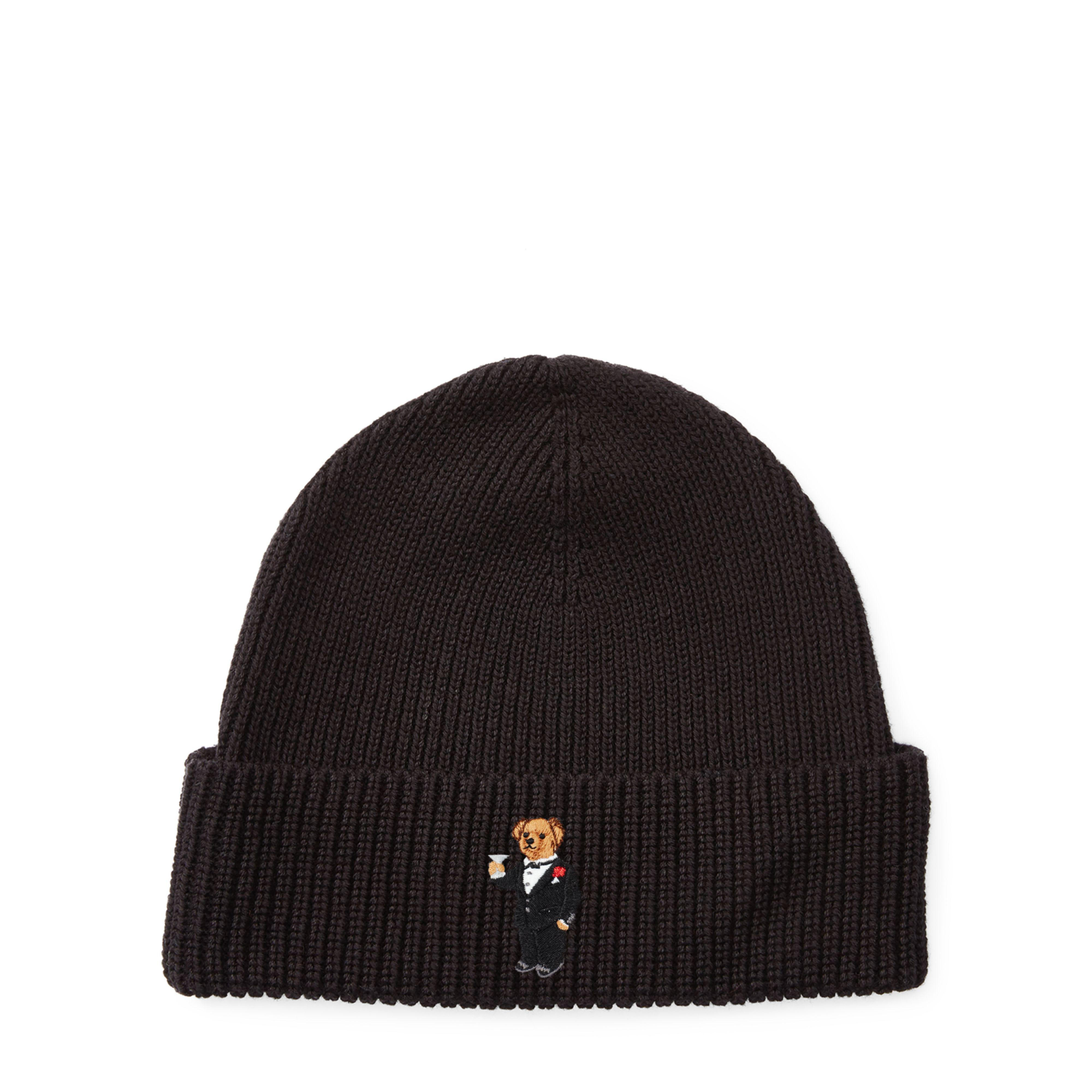 a2ad12f9b22 Lyst - Polo Ralph Lauren Martini Polo Bear Ribbed Hat in Black for Men