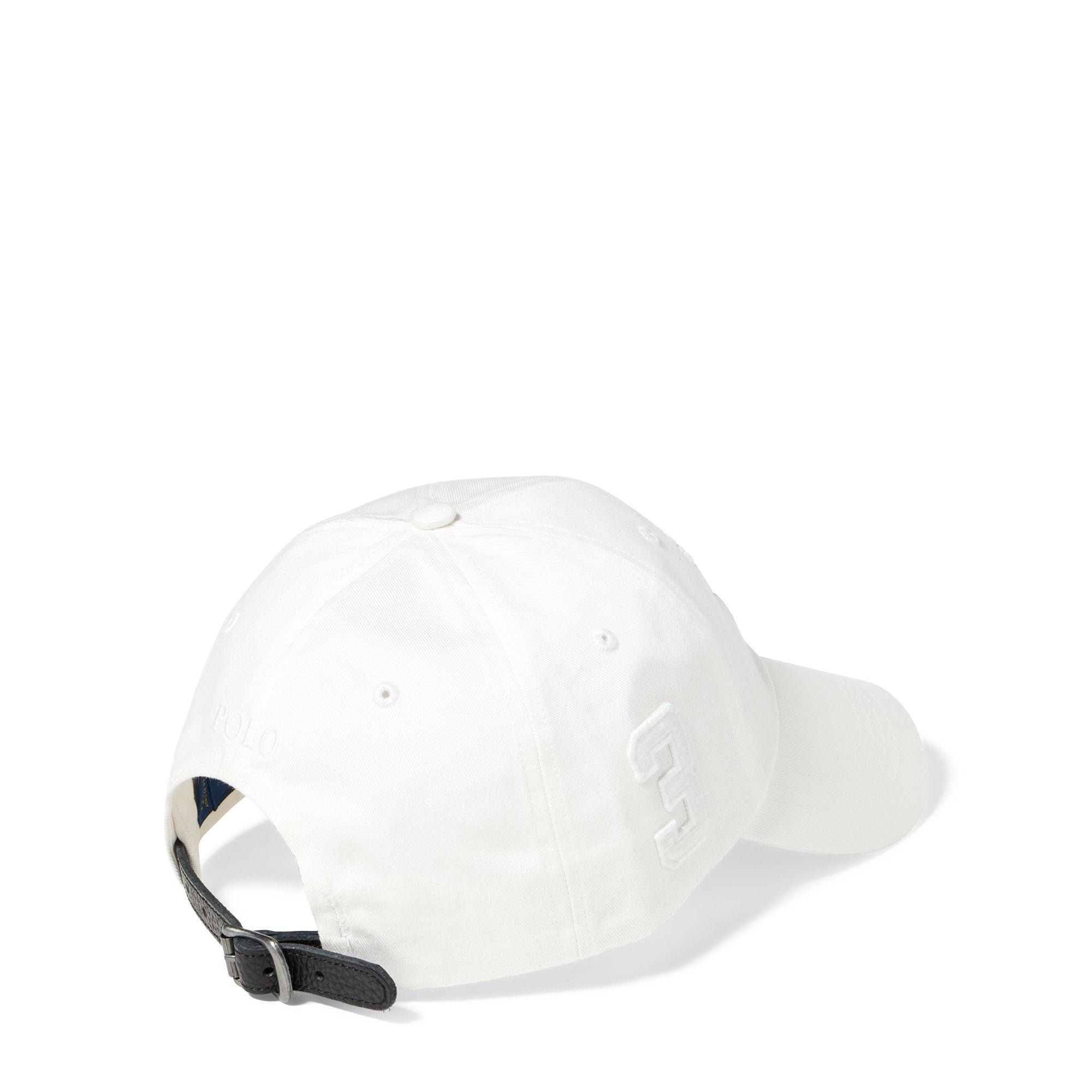 a65c880c Polo Ralph Lauren - White Mens Cotton Chino Baseball Cap for Men - Lyst.  View fullscreen