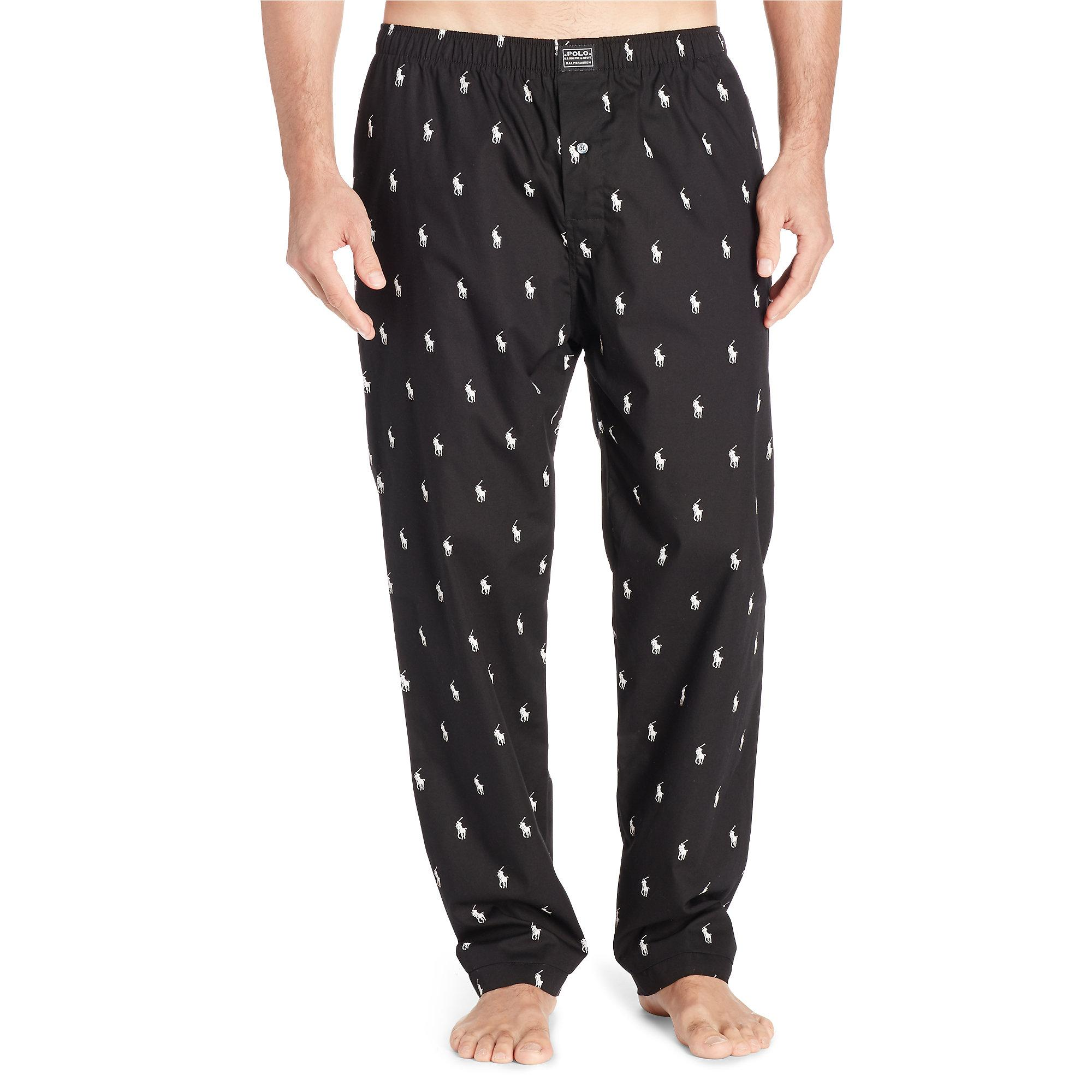 Learning From 30 Years Of Ralph Lauren Home: Polo Ralph Lauren Allover Pony Sleep Pant In Black