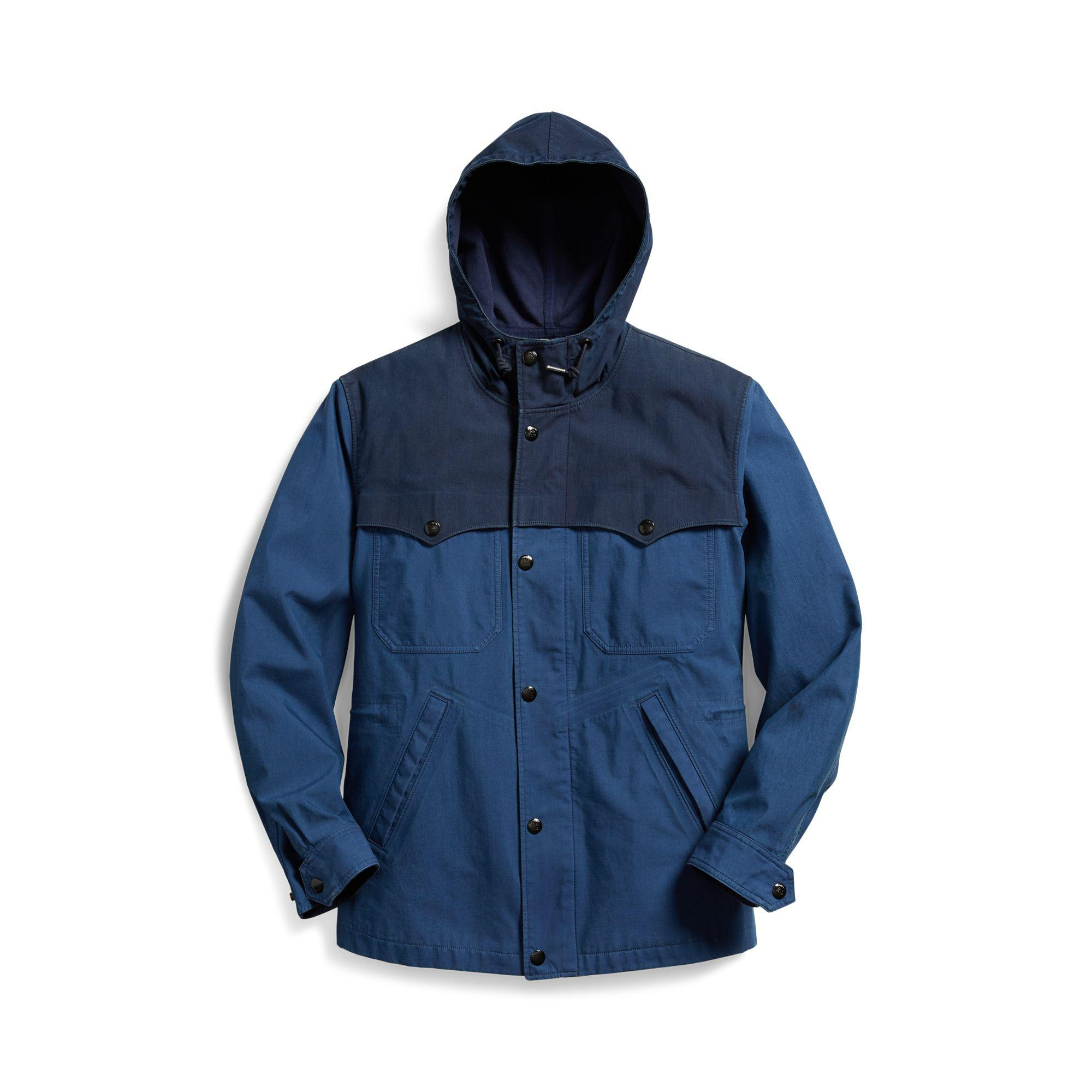 f75b0610cc RRL Indigo Waterproof Jacket in Blue for Men - Lyst