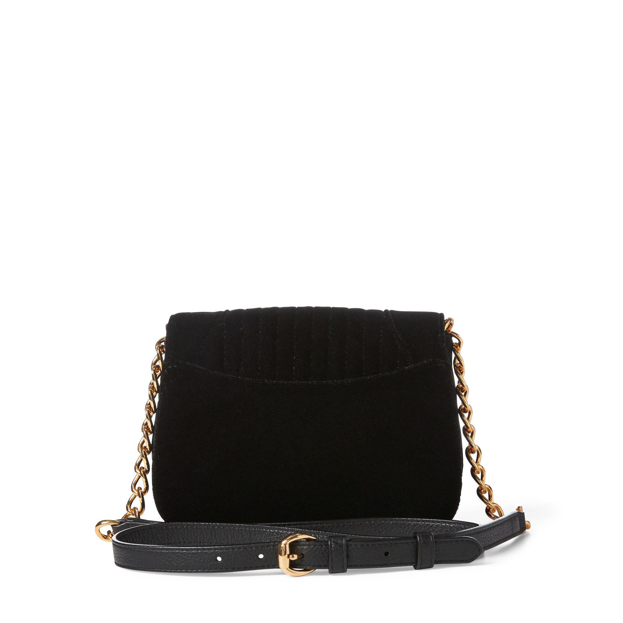 aff8f2105614 Ralph Lauren - Black Velvet Crossbody Bag - Lyst. View fullscreen
