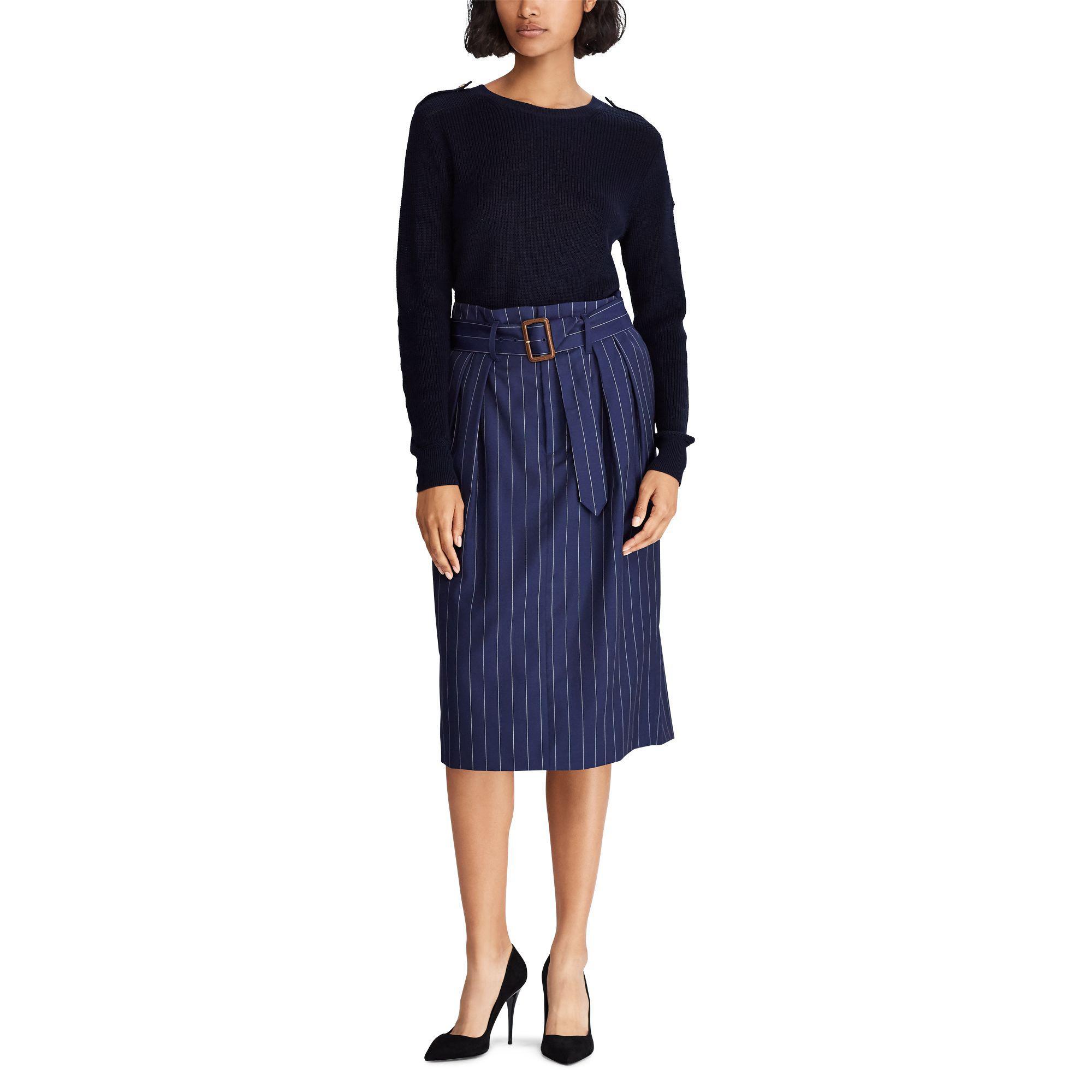 1709a981805c Lyst - Polo Ralph Lauren Button-shoulder Cotton Jumper in Blue