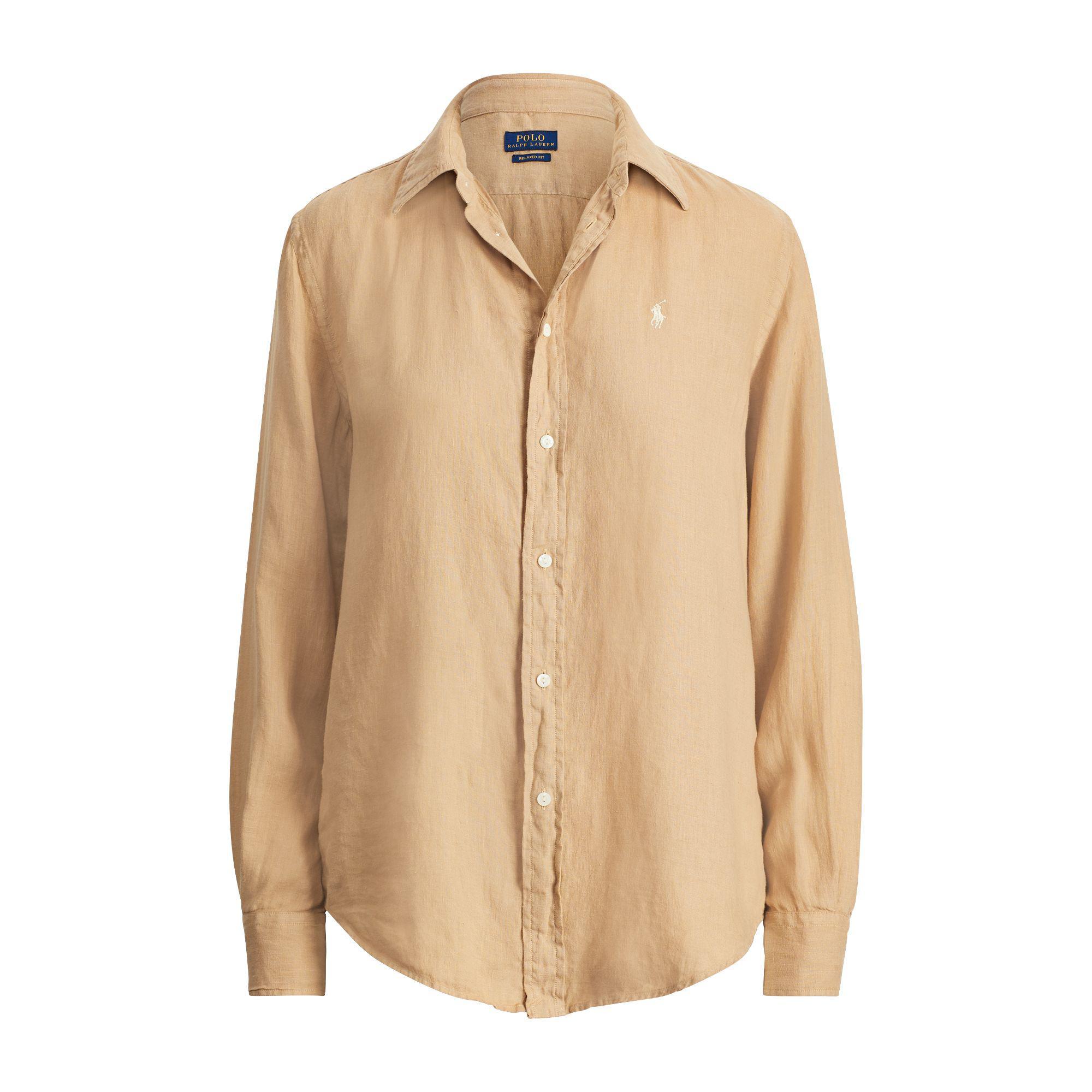 9b08519620f Polo Ralph Lauren Relaxed Fit Linen Shirt - Lyst