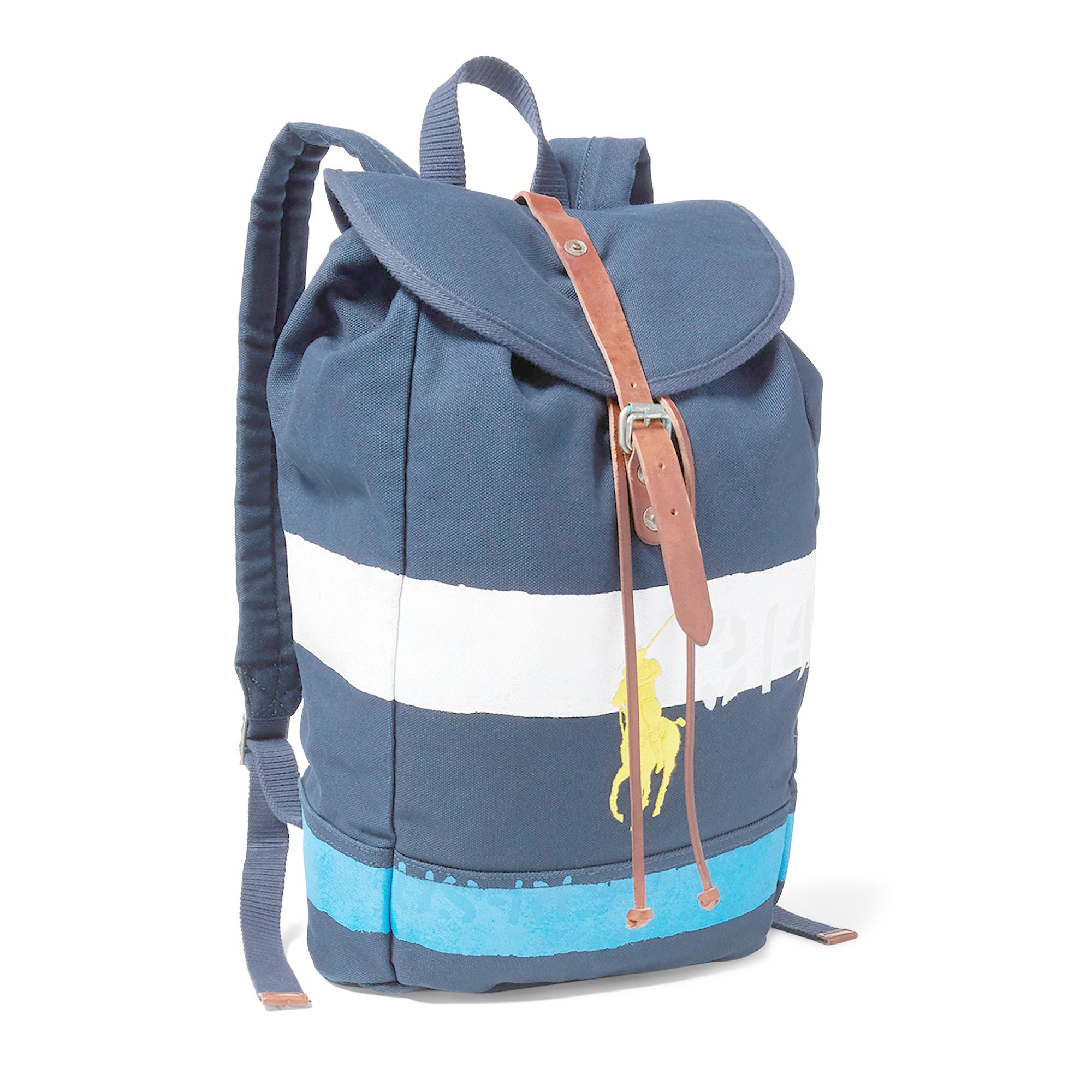 313c9dc88 Ralph Lauren Striped Canvas Backpack- Fenix Toulouse Handball