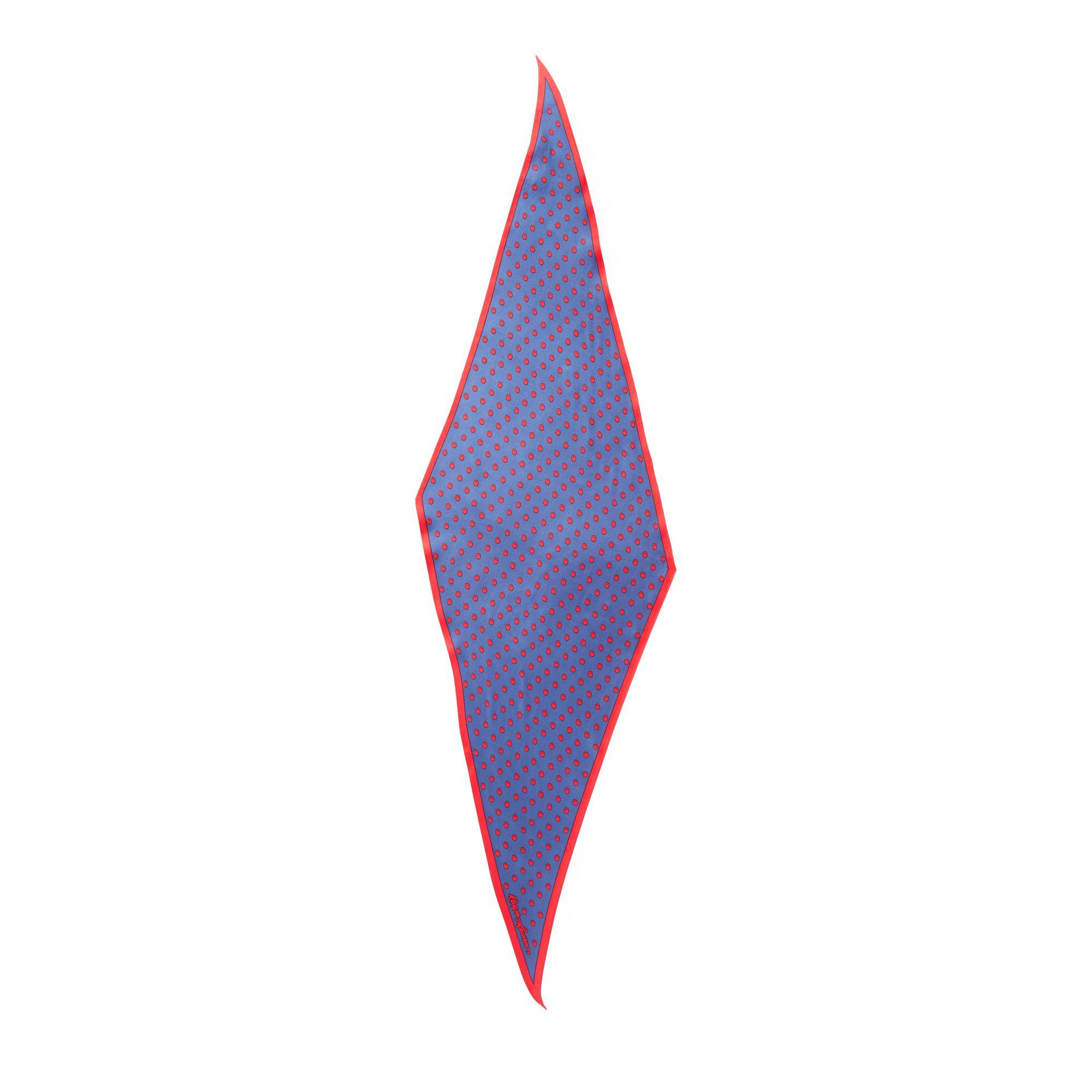 c26ce3f54c Polo Ralph Lauren Art Deco Dot Silk Scarf in Blue - Lyst