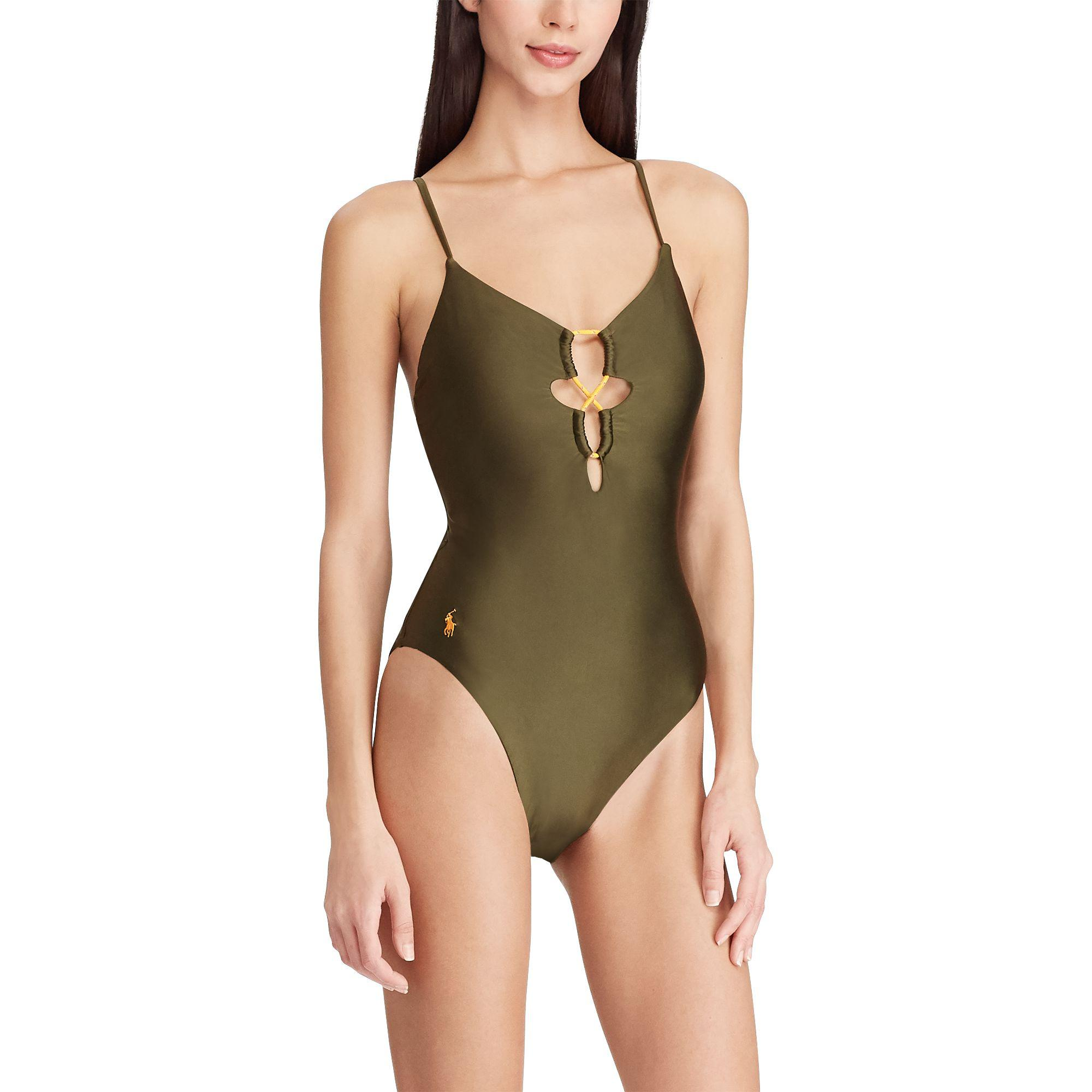 628bfa22de978 Polo Ralph Lauren - Green Bungee One-piece Swimsuit - Lyst. View fullscreen