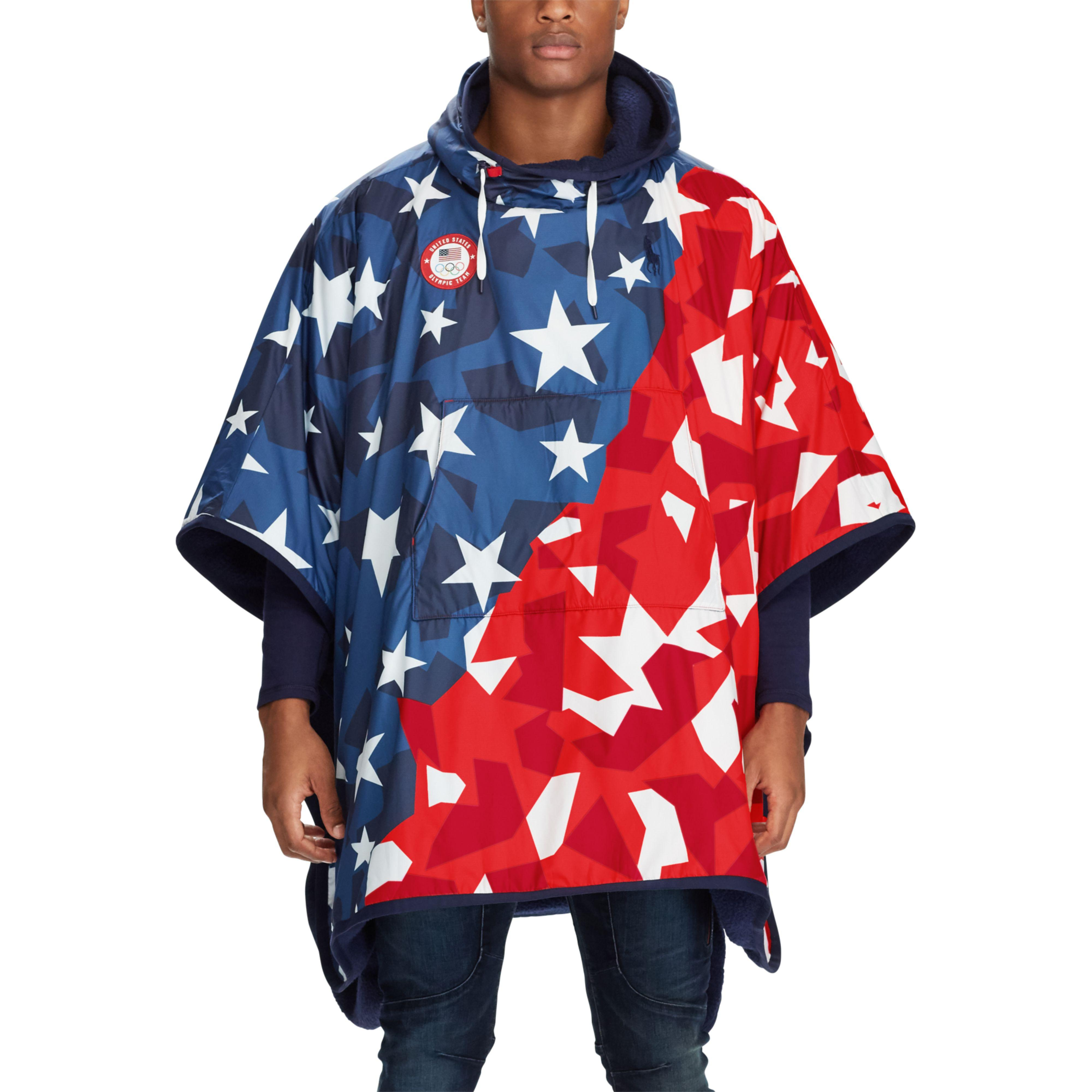 35aed8e0cde4 Lyst - Polo Ralph Lauren Team Usa Ripstop Hooded Poncho for Men