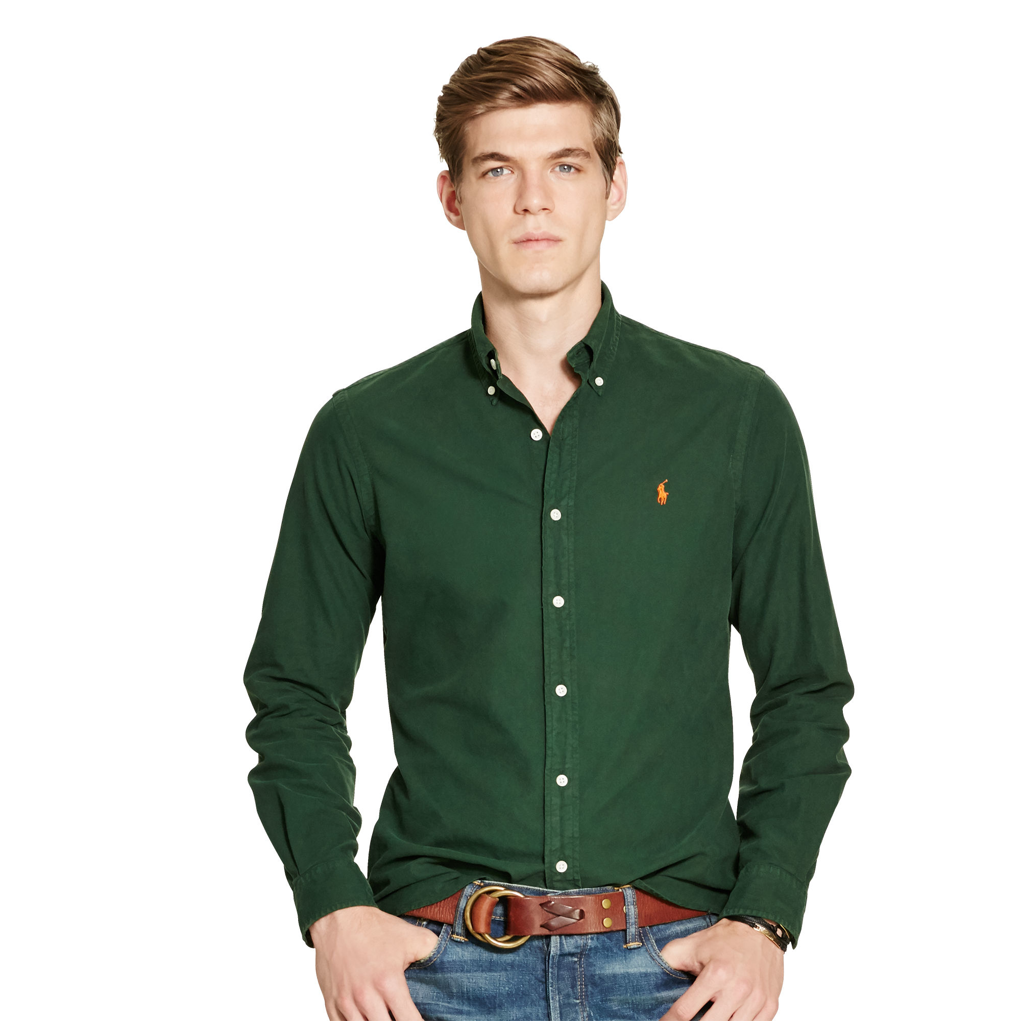polo ralph lauren garment dyed oxford shirt for men lyst. Black Bedroom Furniture Sets. Home Design Ideas