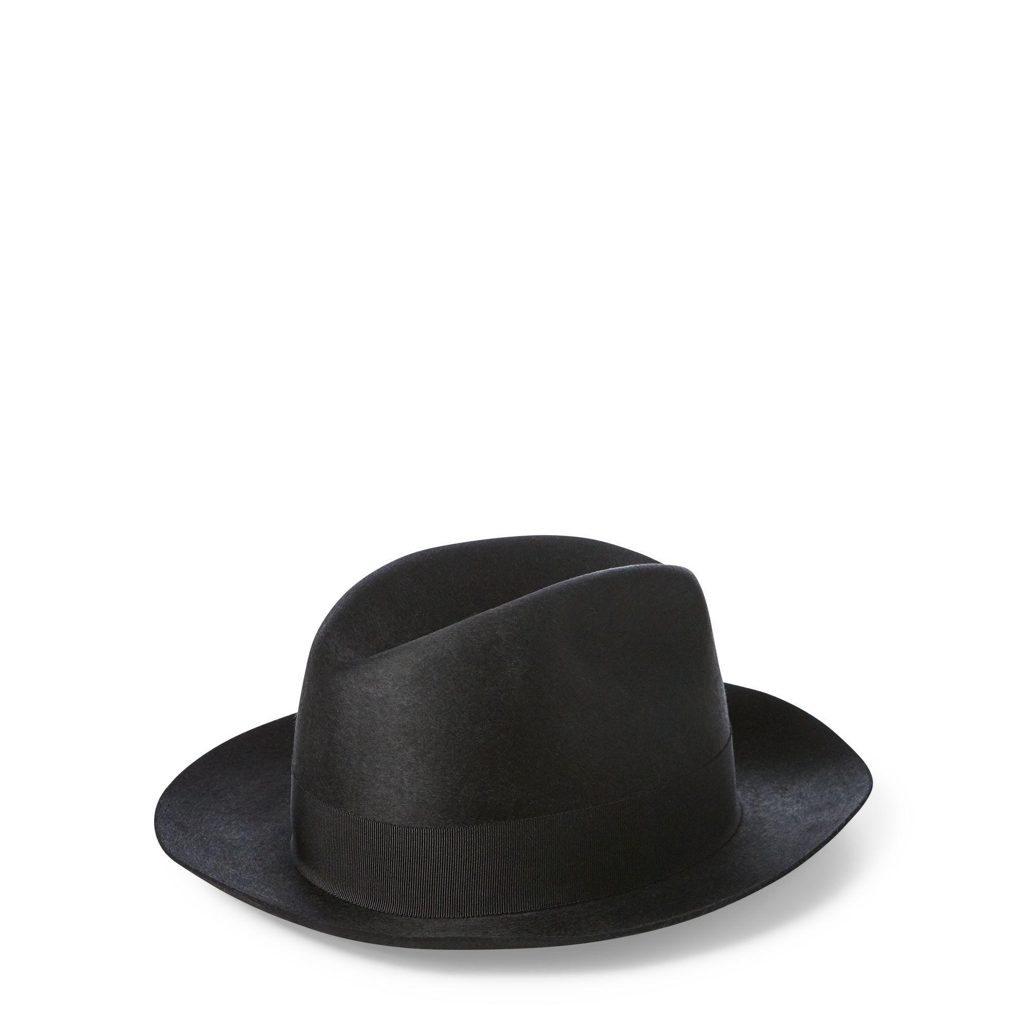 1a84a2556df Polo Ralph Lauren - Black Wool Felt Fedora - Lyst. View fullscreen