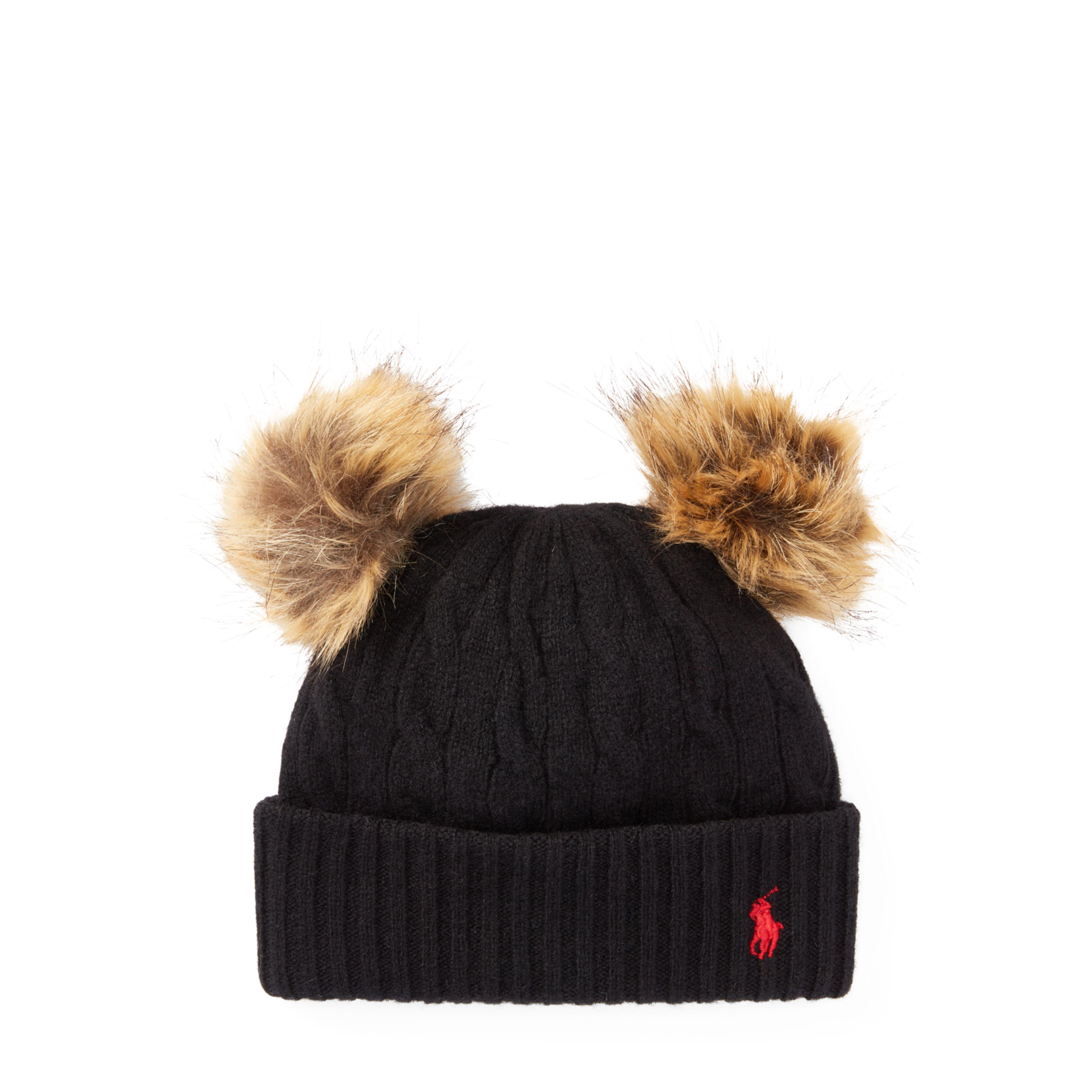 16b05c56181 Lyst - Polo Ralph Lauren Double-pom-pom Wool Hat
