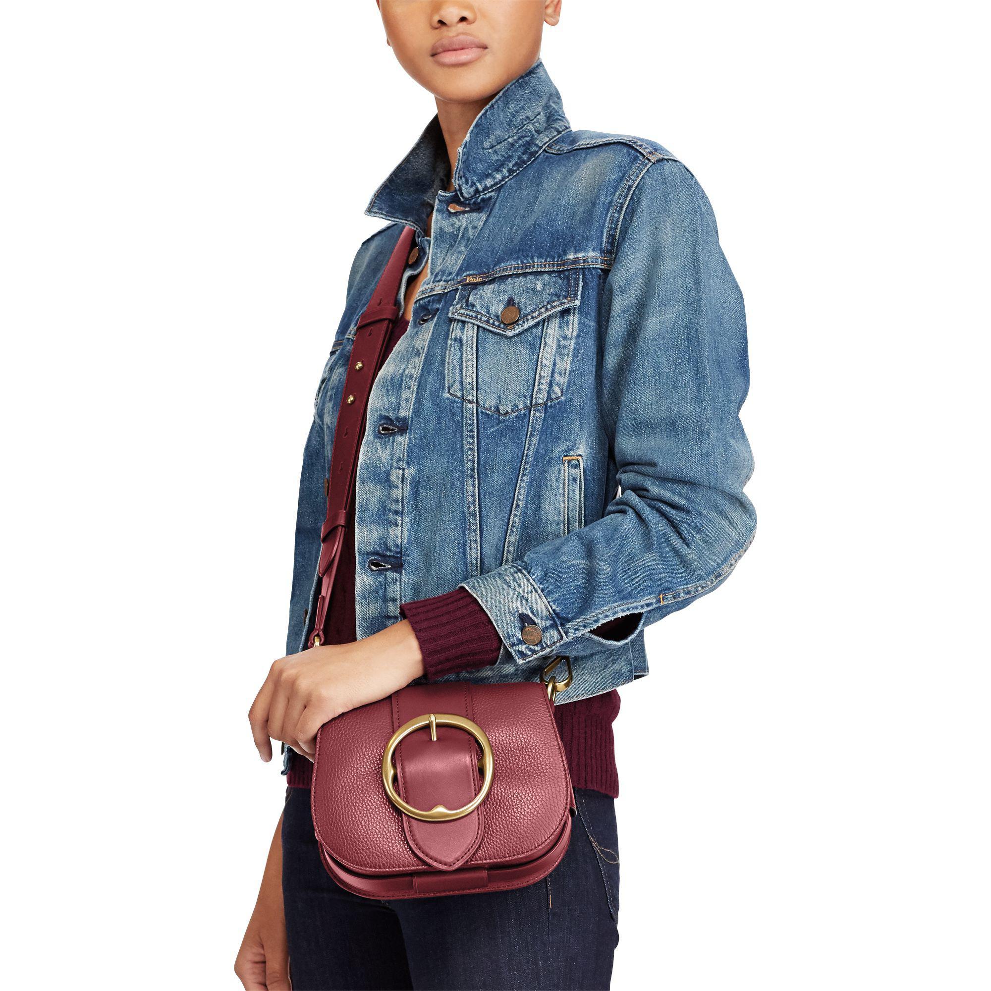 11e728c7ed Polo Ralph Lauren Pebbled Leather Lennox Bag - Lyst