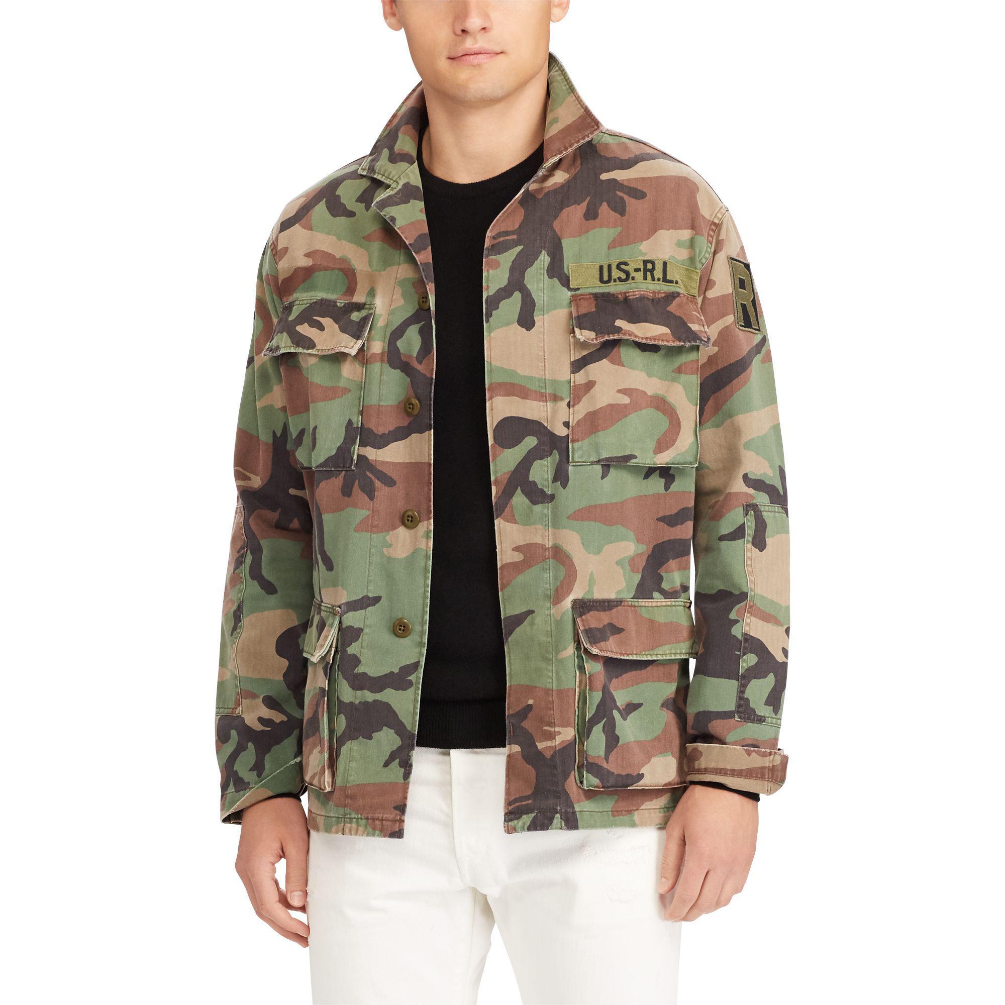 lyst polo ralph lauren standard fit cotton overshirt for men. Black Bedroom Furniture Sets. Home Design Ideas