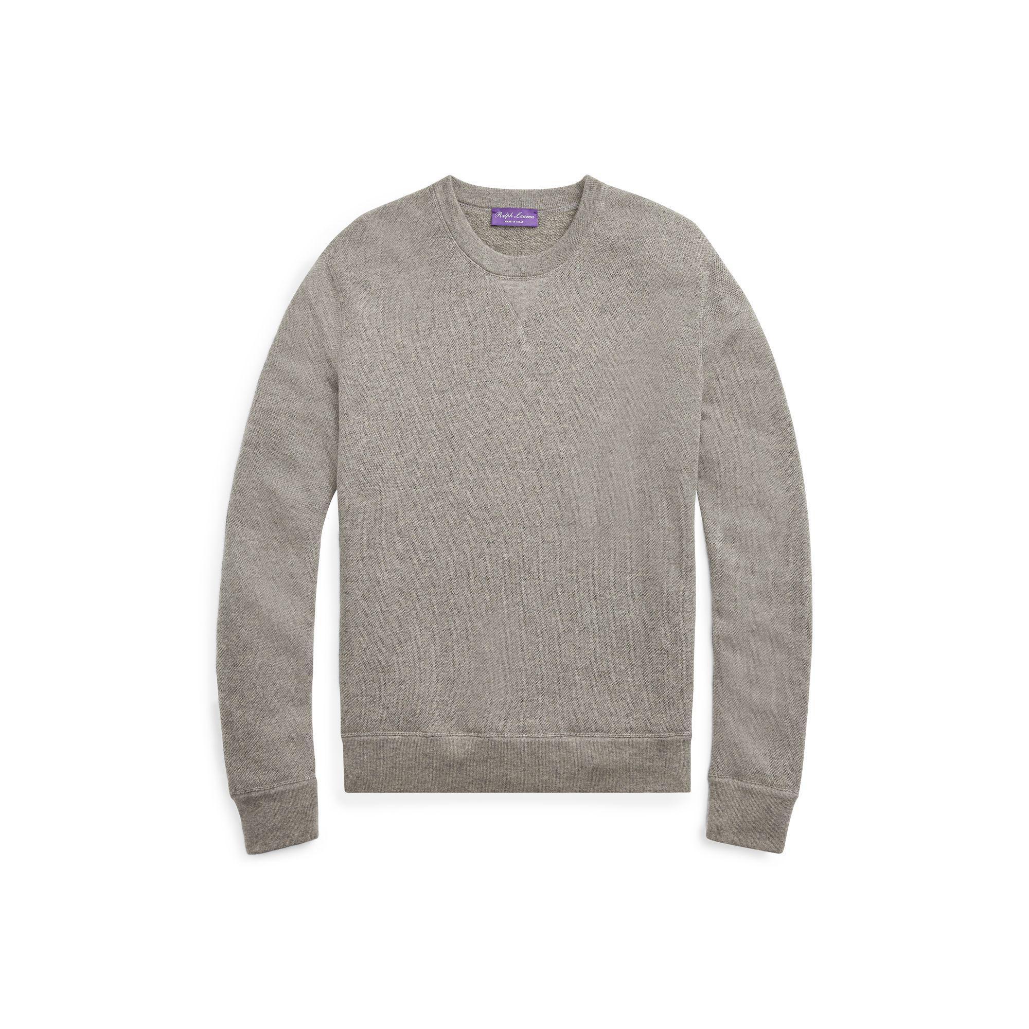 ab6e243484be Lyst - Ralph Lauren Purple Label Cashmere Crewneck Sweater in Gray ...
