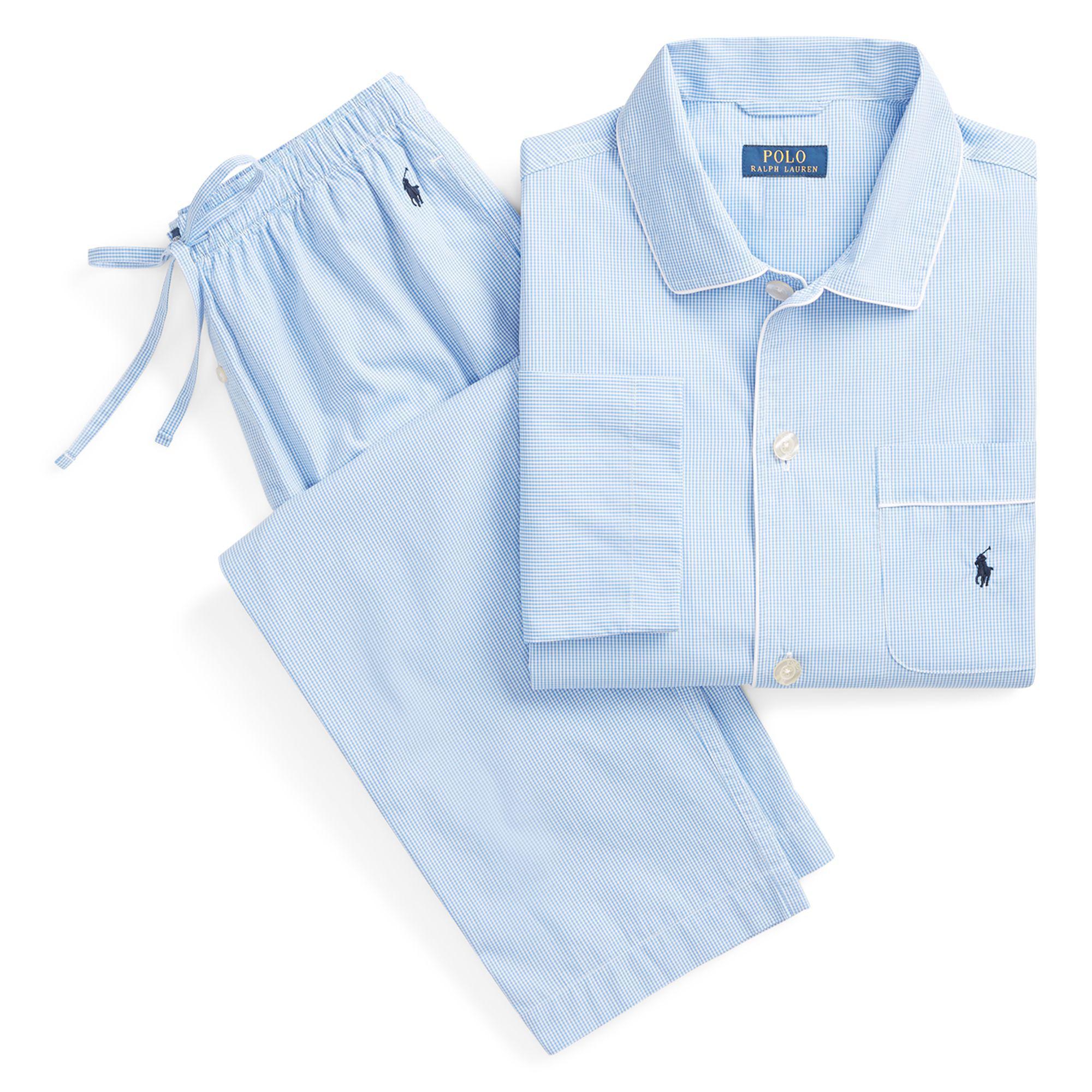 Polo Ralph Lauren Gingham Poplin Long Sleep Set in Blue for Men - Lyst 90cff9b11831