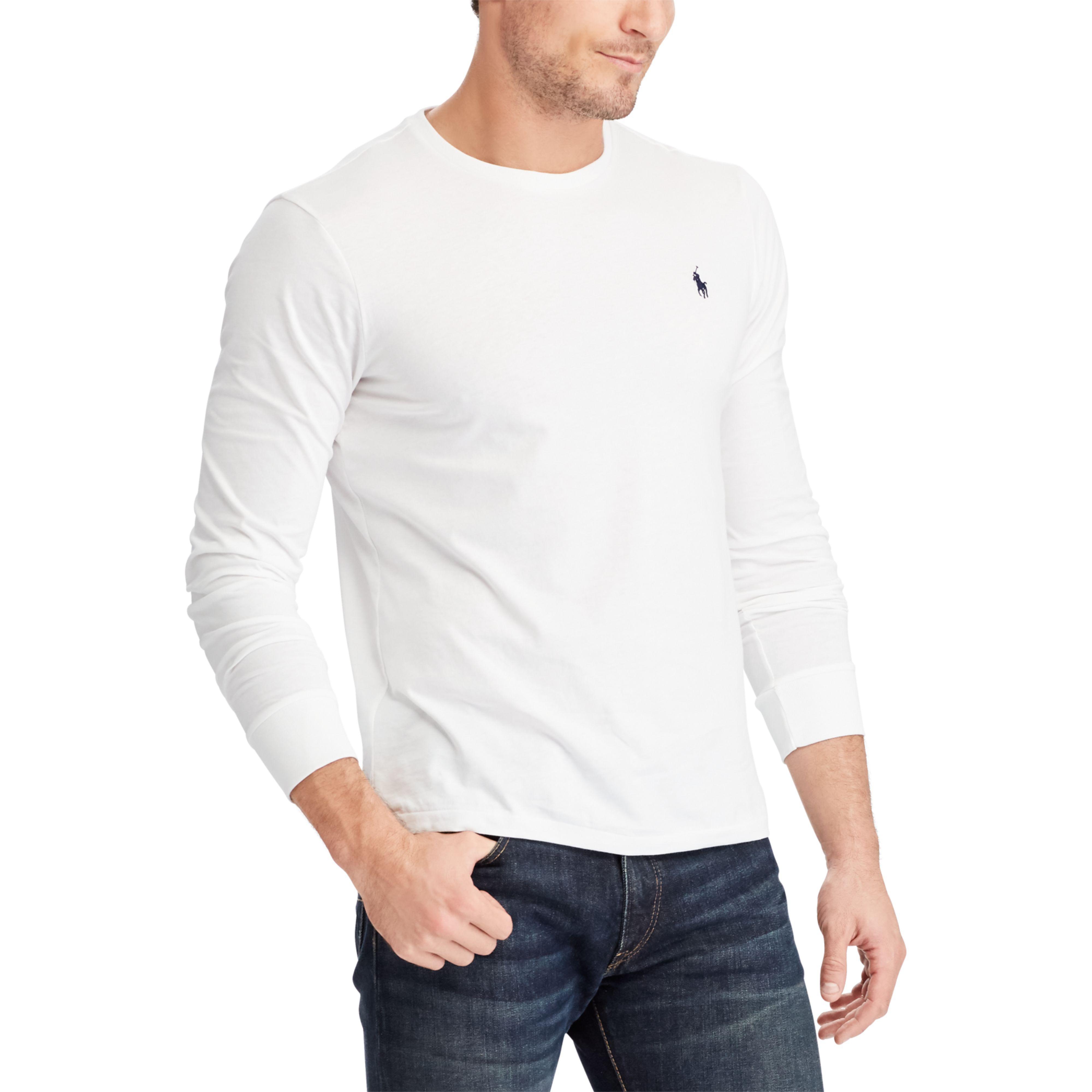 9ff907837883 ... greece lyst polo ralph lauren custom slim fit cotton t shirt in gray  for men 08361