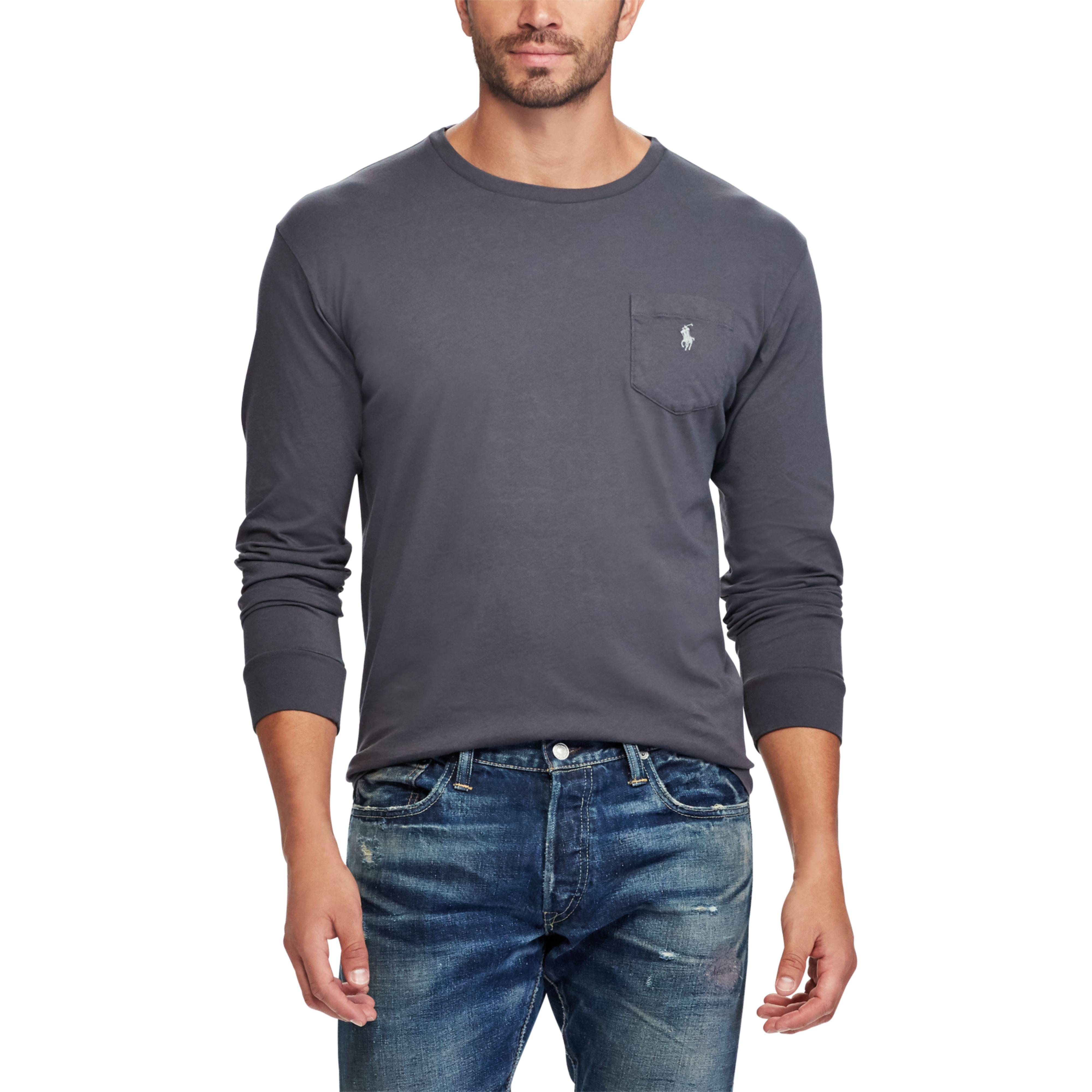 be03d34911b2 ... custom slim fit polo shirt number 3 buenos aires navy blue s 9a941  cdea5  shop lyst polo ralph lauren classic fit cotton t shirt in gray for  men ef15b ...