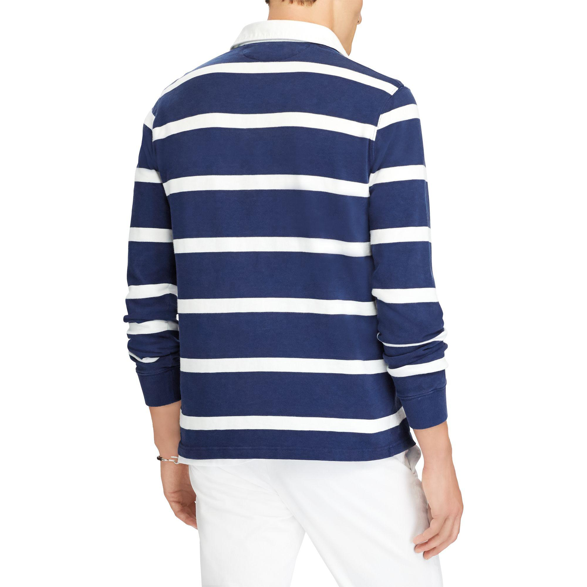 3eb524f30 ... low price polo ralph lauren the iconic rugby shirt in blue for men lyst  1d024 b1180
