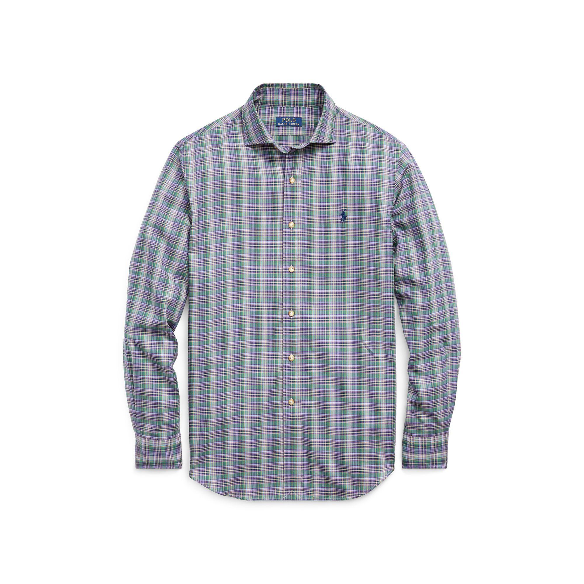 0d85c7b2e742 Polo Ralph Lauren Slim Fit Cotton Twill Shirt in Blue for Men - Lyst