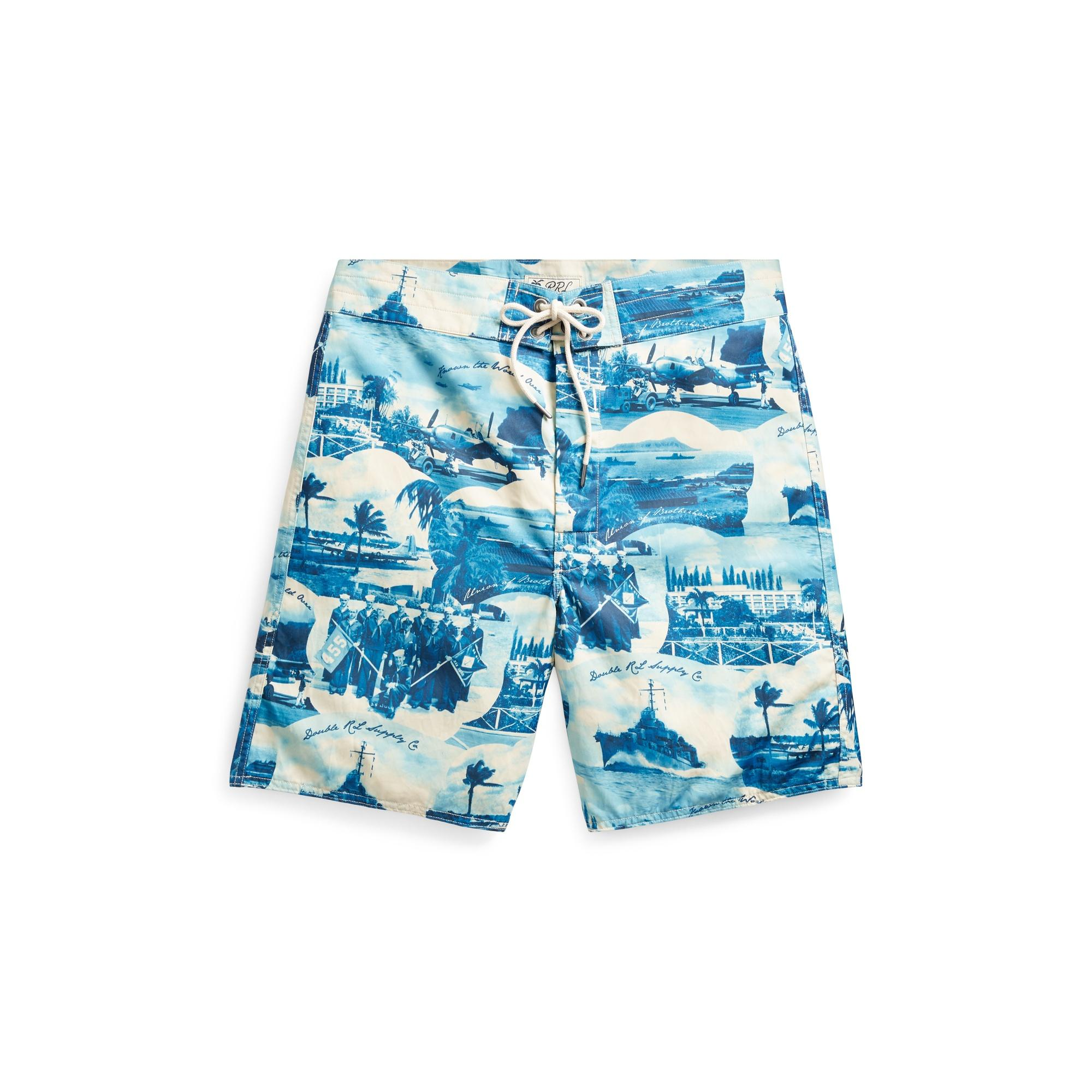 50365646b1 RRL Cotton-blend Graphic Short in Blue for Men - Lyst