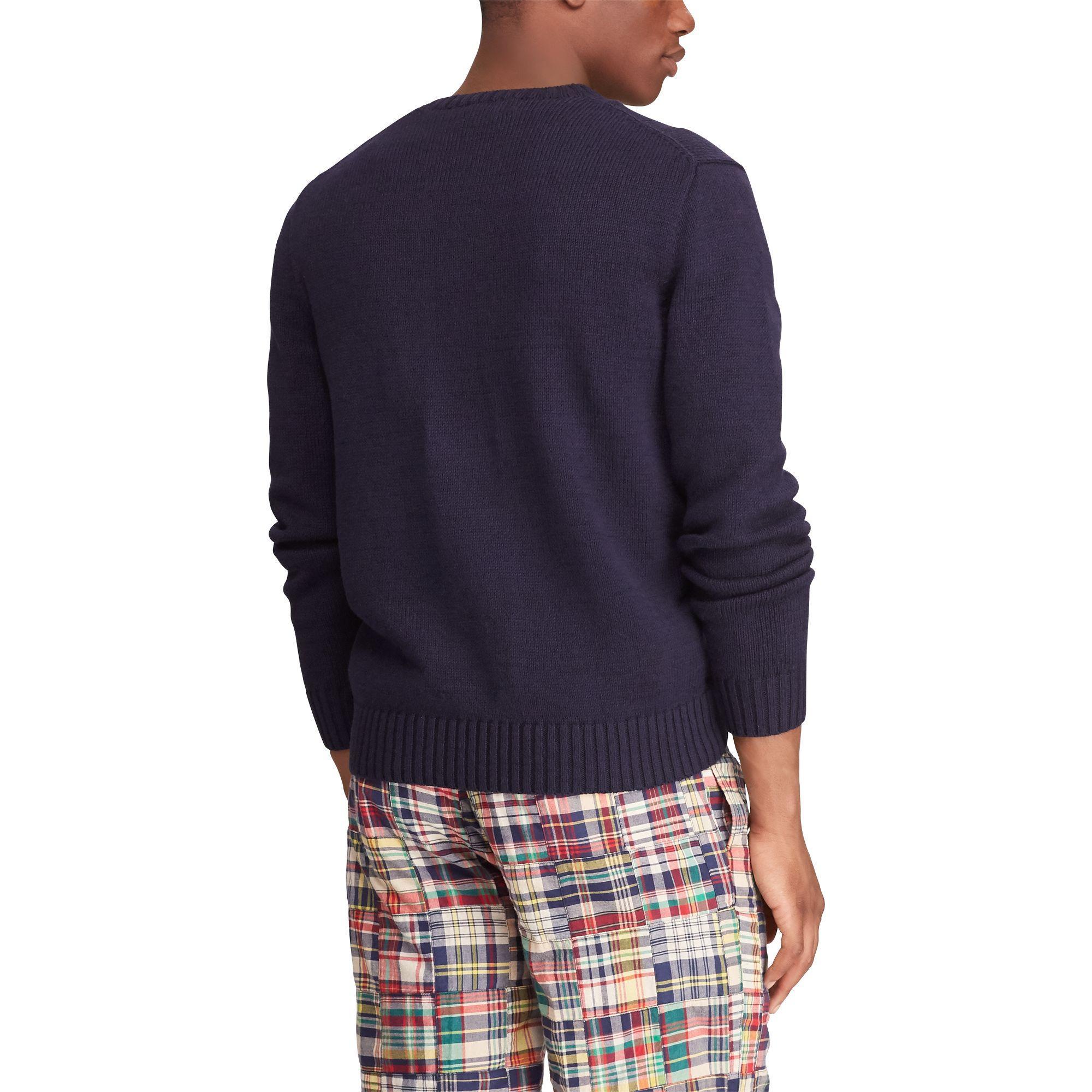 552611b74f3 Polo Ralph Lauren - Blue University Bear Sweater for Men - Lyst. View  fullscreen