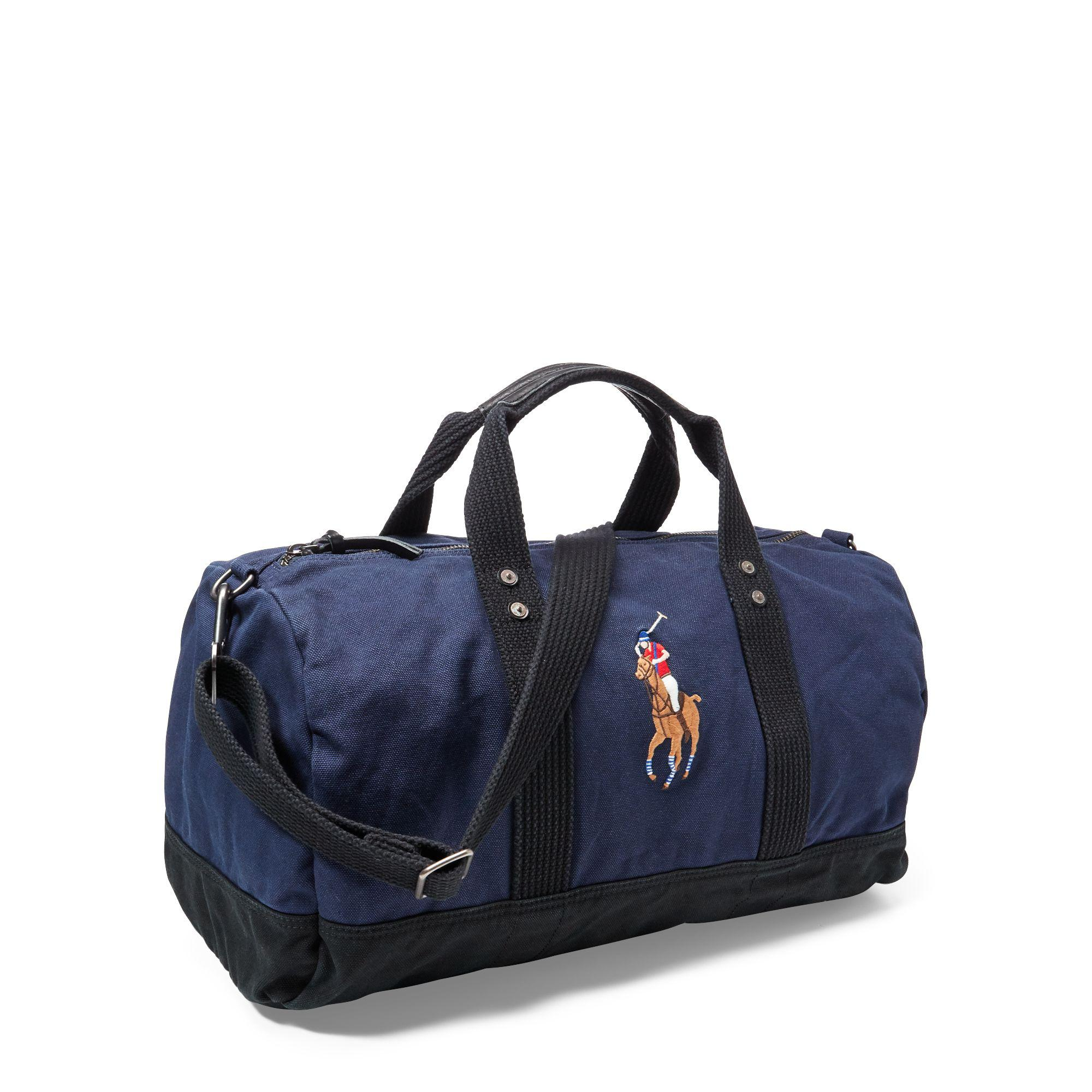 ... cheap lyst polo ralph lauren canvas big pony duffel bag in blue for men  471aa 0c88c 5078d59af00e0