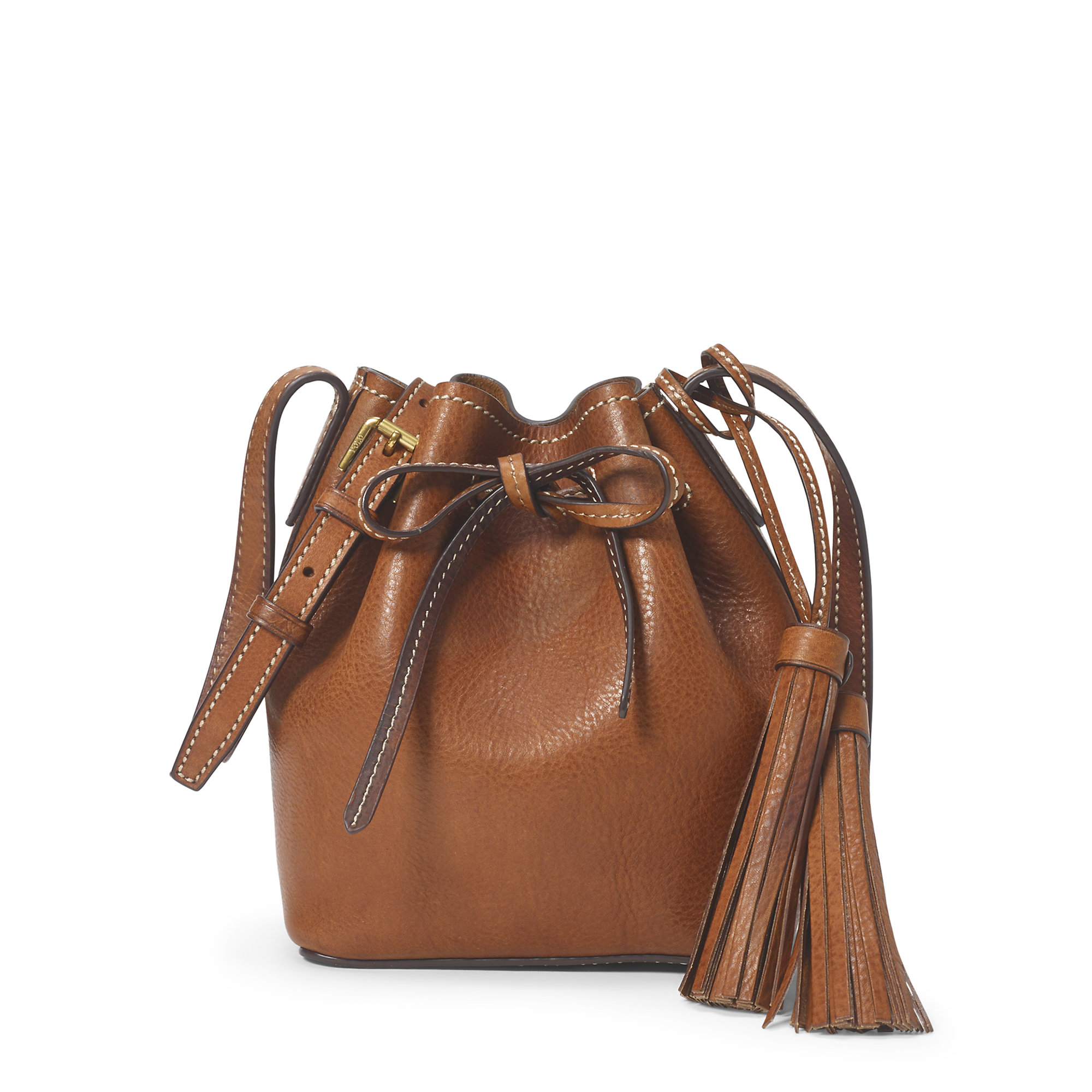 9886e6a17 ... amazon lyst polo ralph lauren mini leather bucket bag fc081 16263