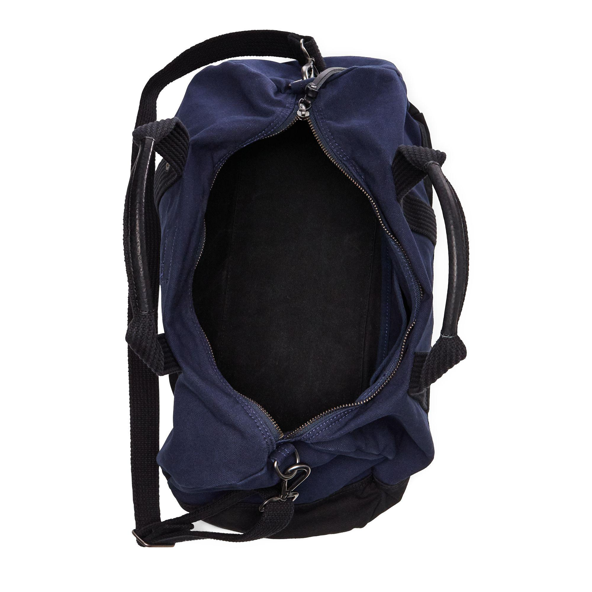 6ad32ef88d6e shopping polo ralph lauren blue canvas big pony duffel bag for men lyst.  view fullscreen