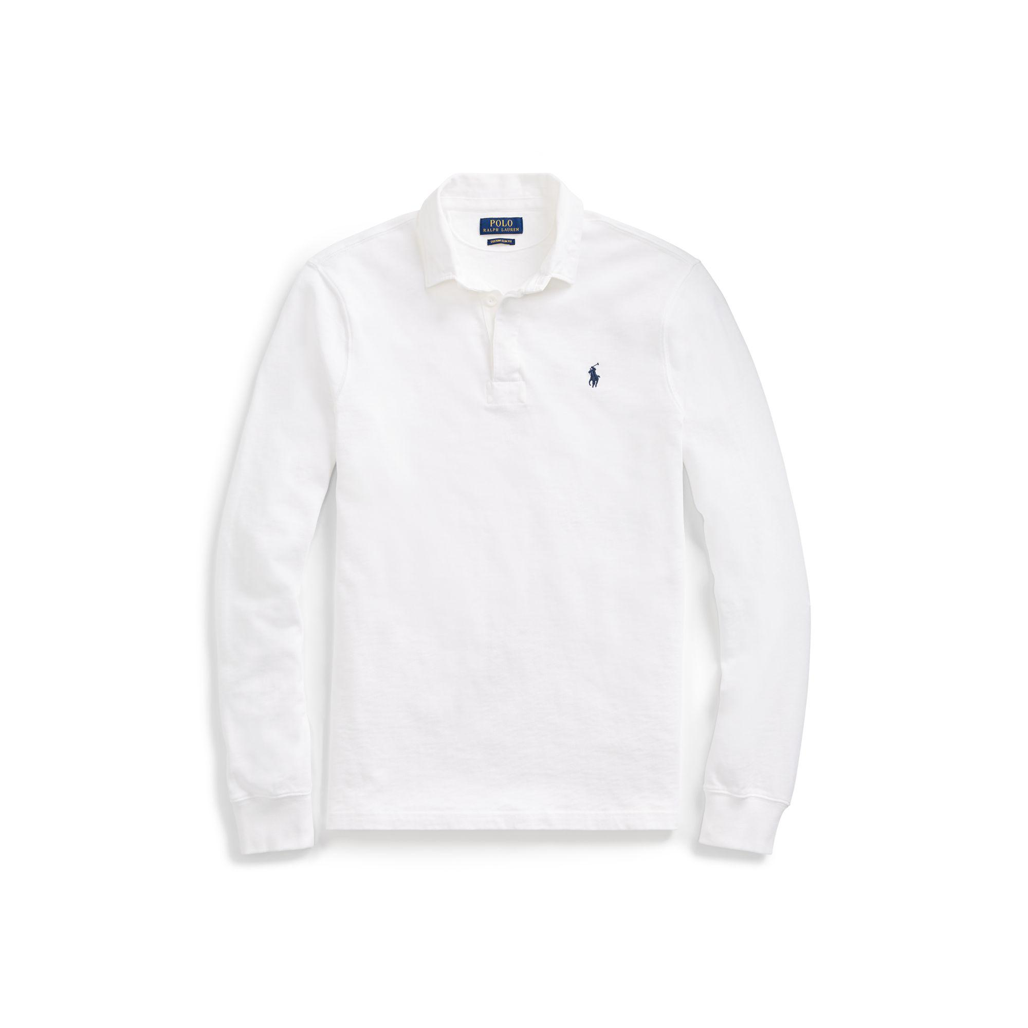 22a0baef7 ... buy ralph lauren polo shirt lyst polo ralph lauren the iconic rugby  shirt in white for
