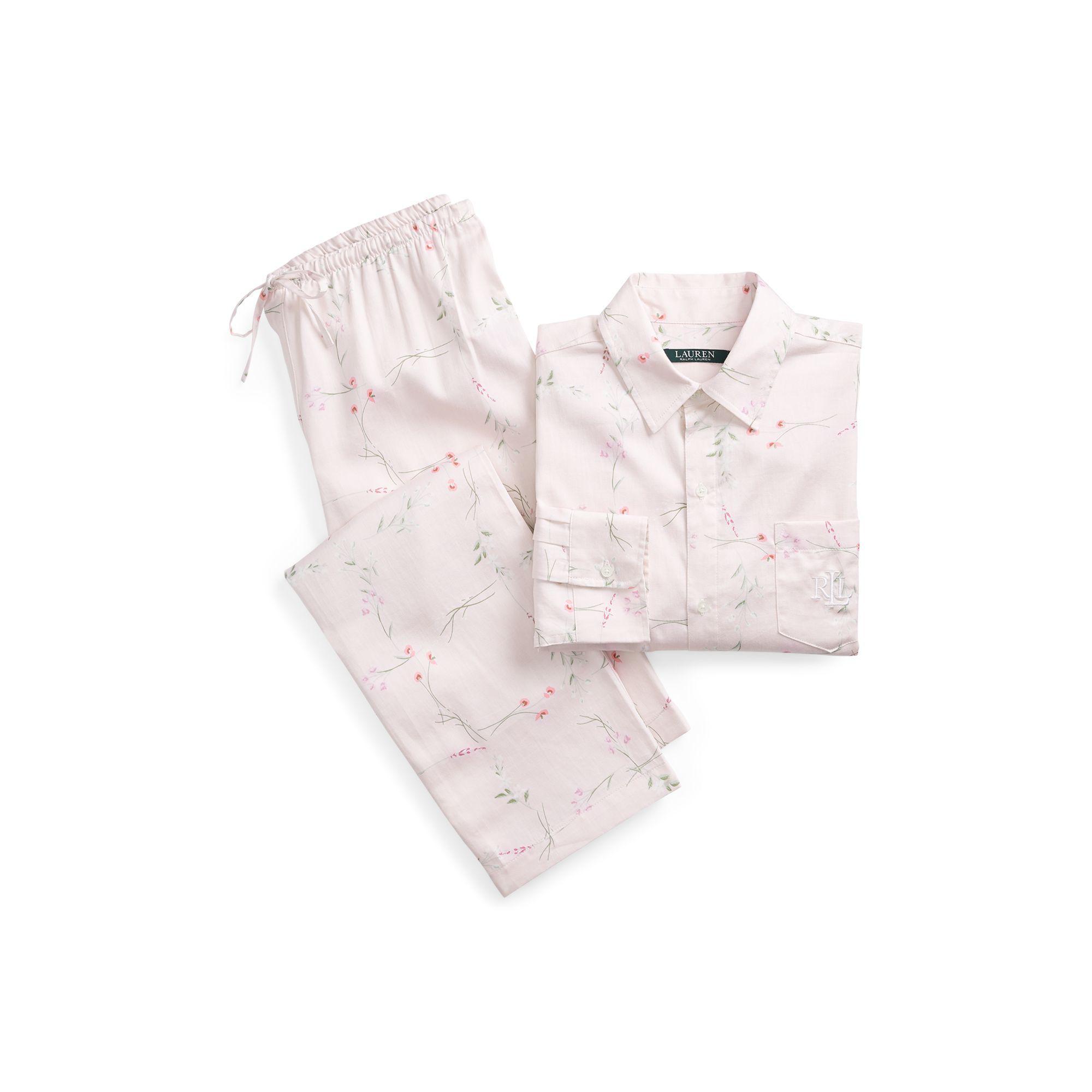Lyst - Ralph Lauren Floral Sateen Sleep Set in Pink b6db81d36