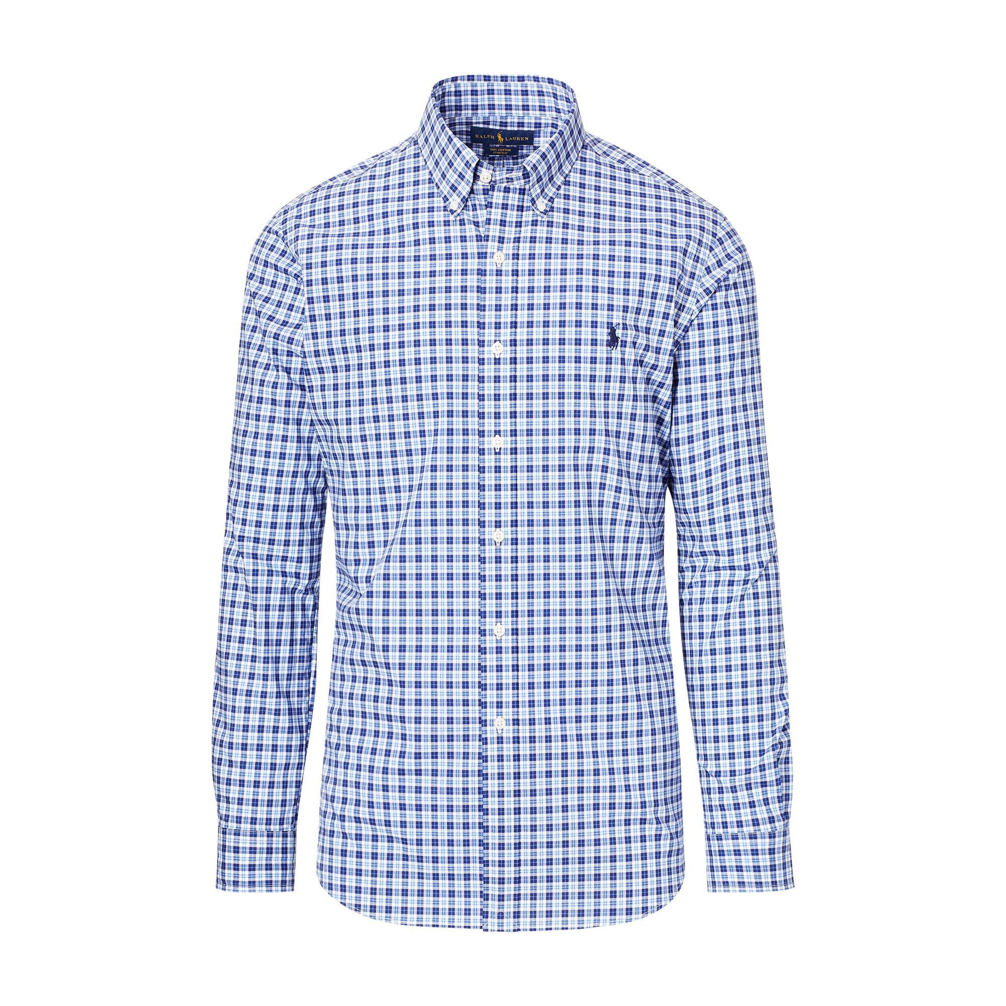 lyst pink pony plaid cotton poplin shirt in blue for men. Black Bedroom Furniture Sets. Home Design Ideas