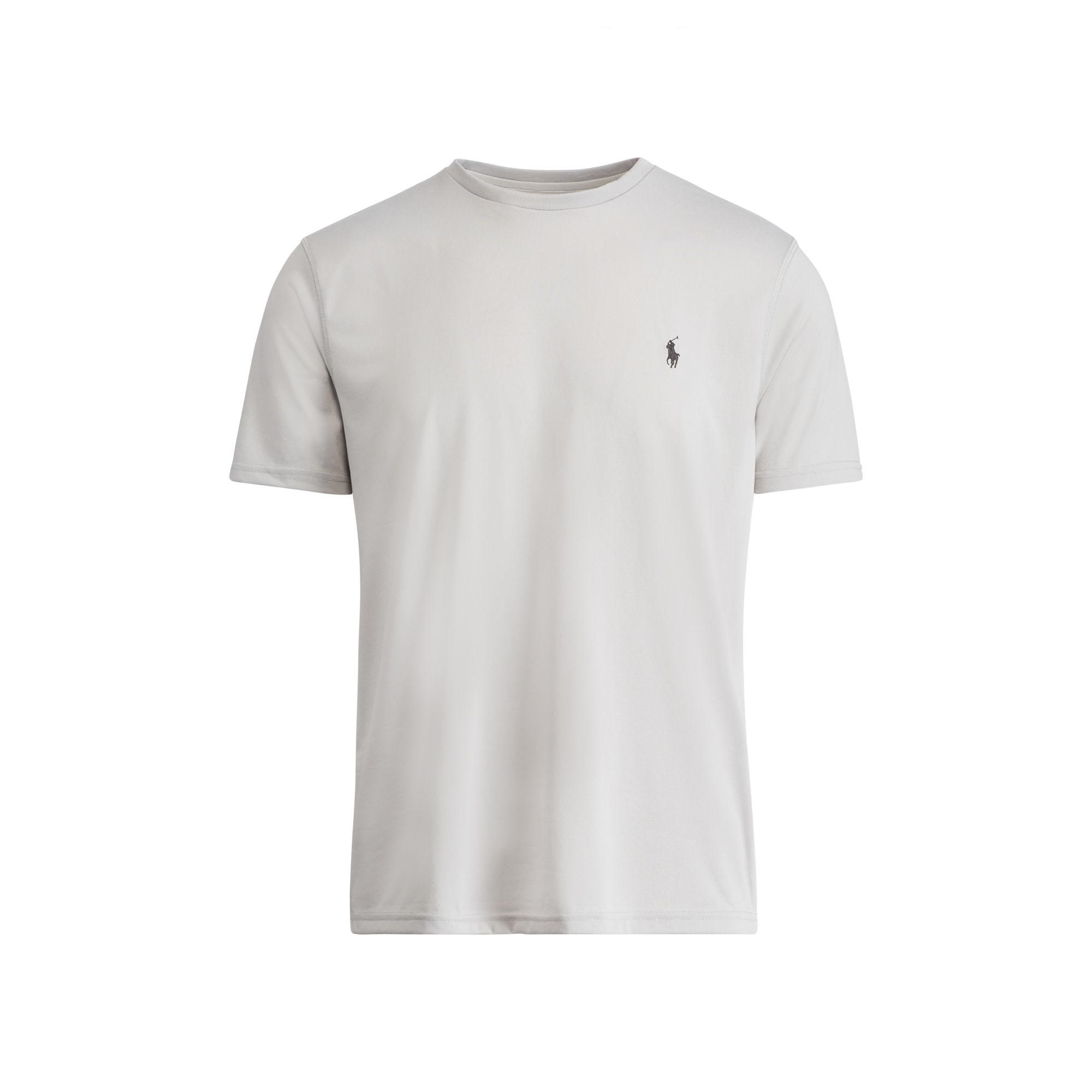 Polo ralph lauren performance jersey t shirt in gray for for Ralph lauren polo jersey shirt