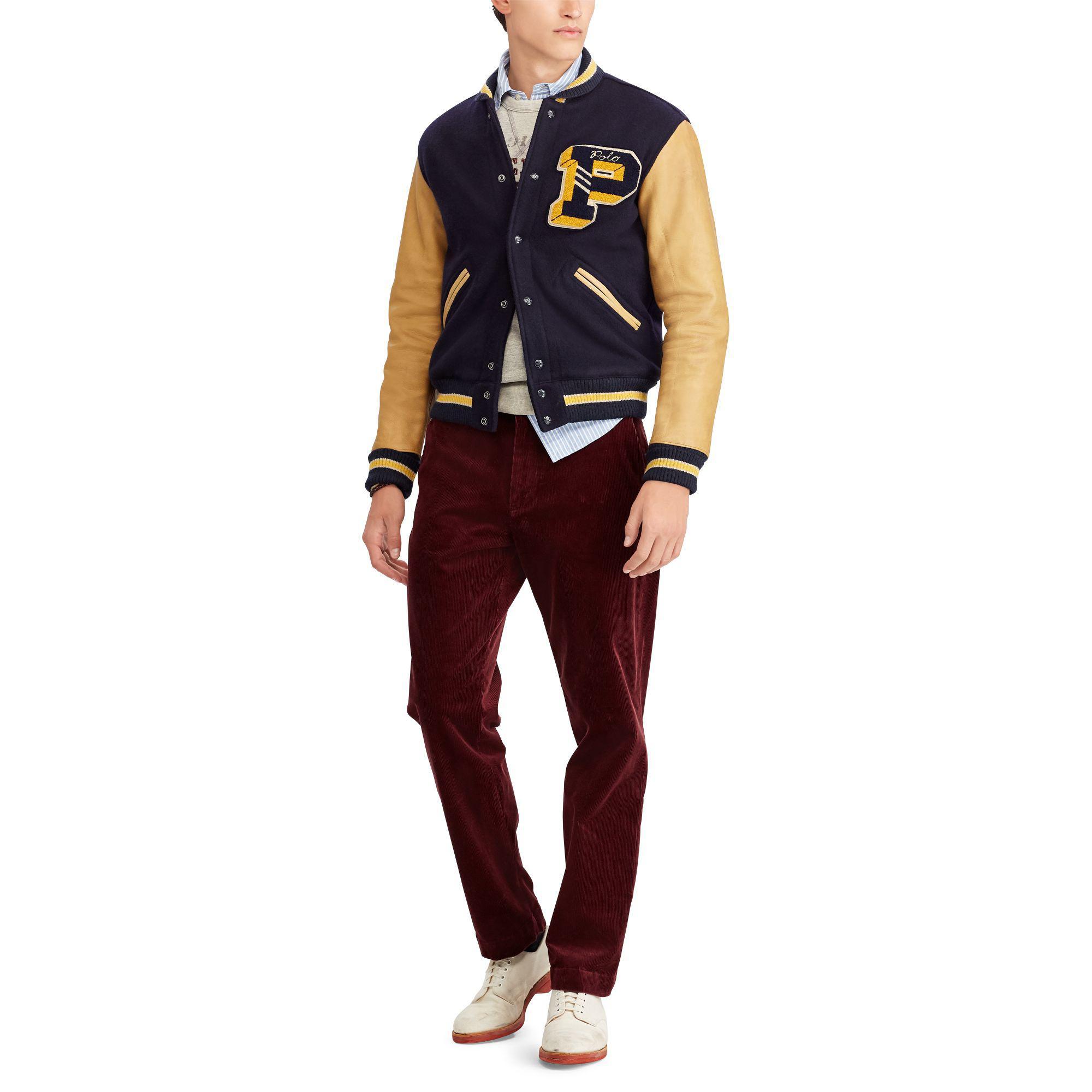 Mens VTG 80s 90s Polo Ralph Lauren Wool Navy Maroon